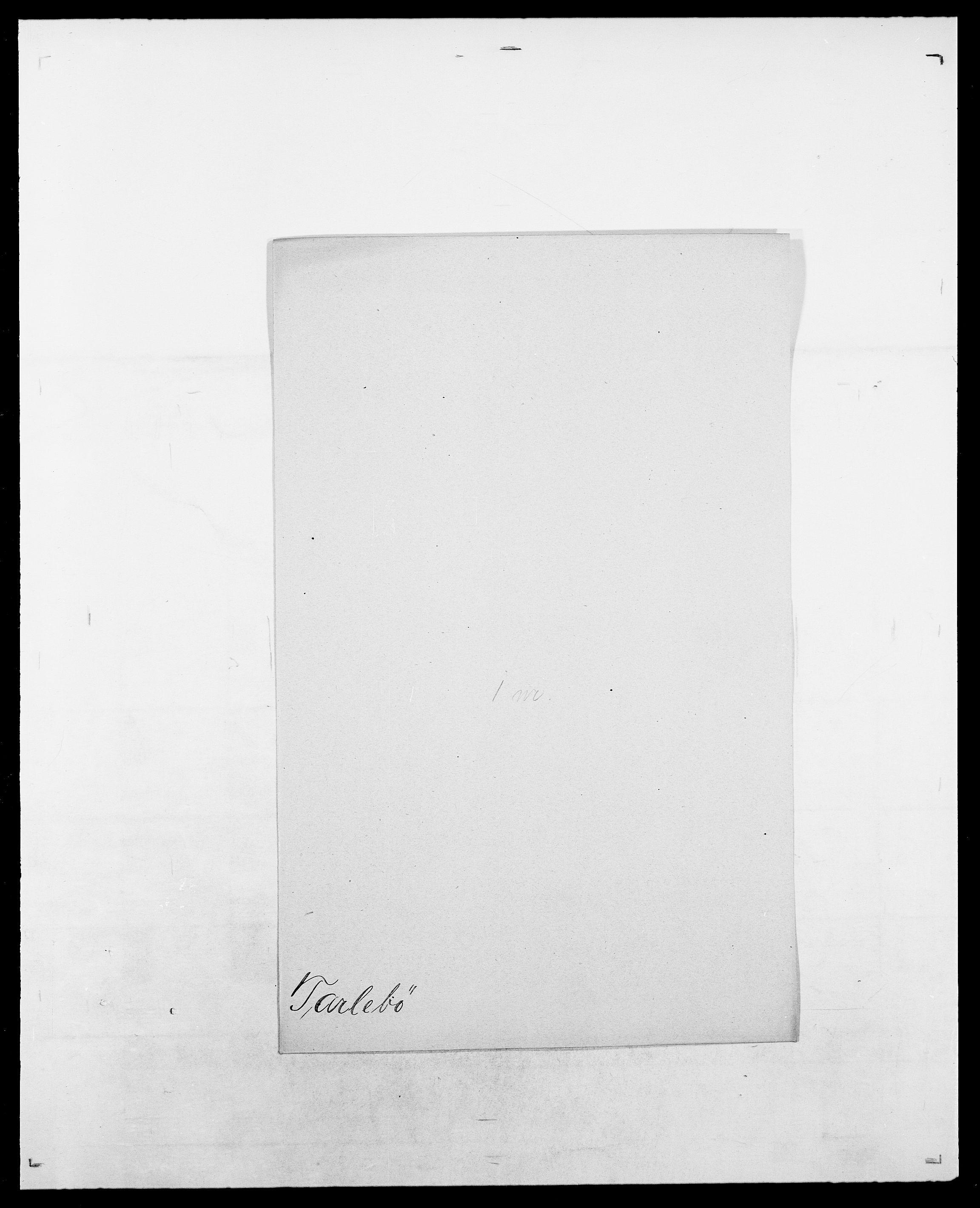 SAO, Delgobe, Charles Antoine - samling, D/Da/L0038: Svanenskjold - Thornsohn, s. 340