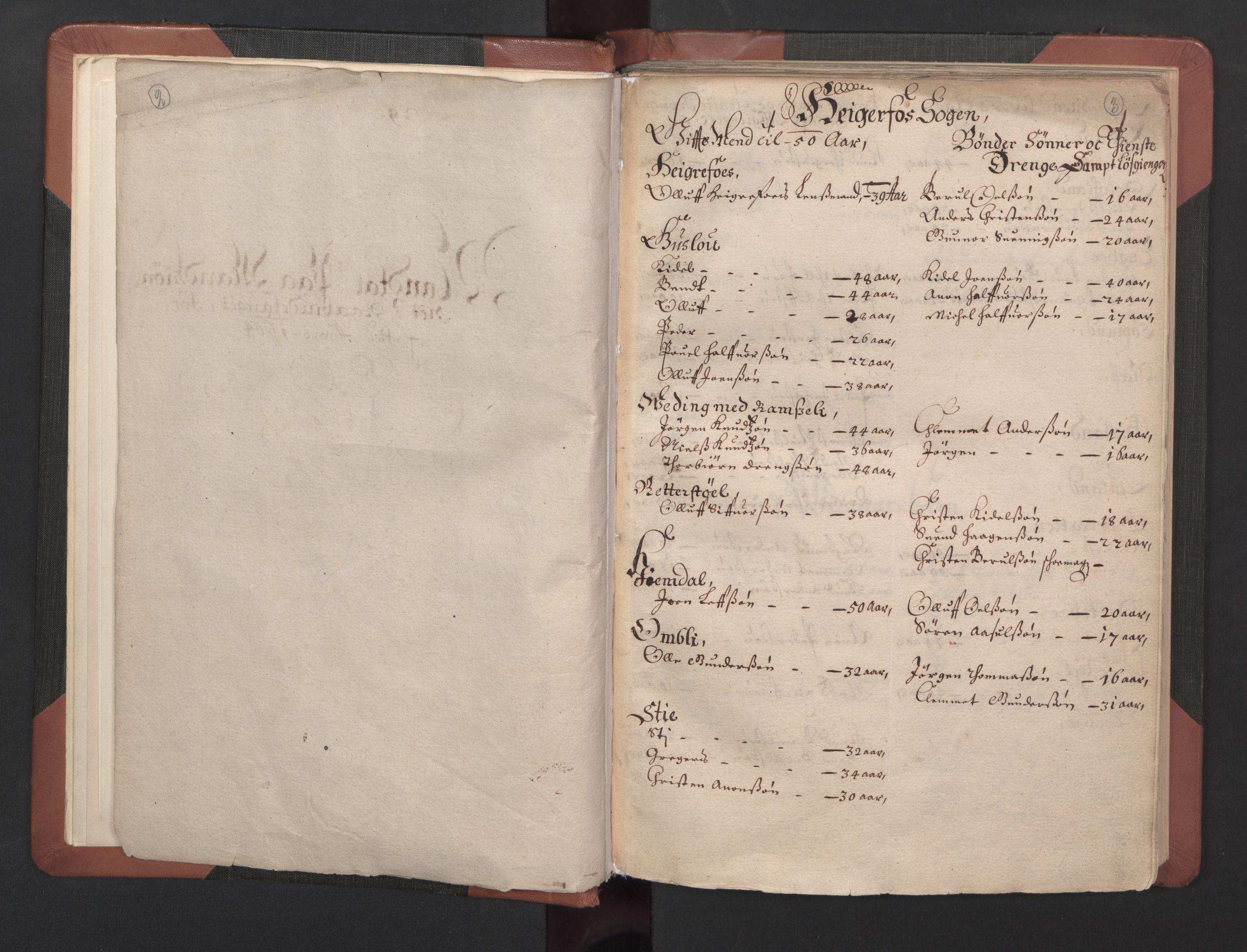RA, Fogdenes og sorenskrivernes manntall 1664-1666, nr. 8: Råbyggelaget fogderi, 1664-1665, s. 2-3