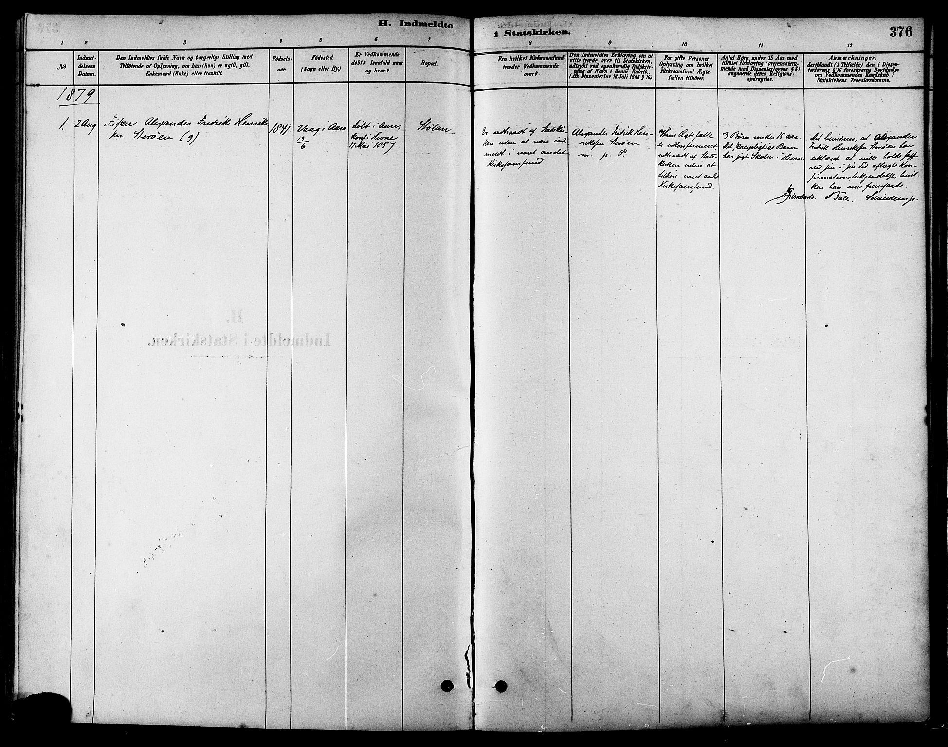 SAT, Ministerialprotokoller, klokkerbøker og fødselsregistre - Sør-Trøndelag, 630/L0496: Ministerialbok nr. 630A09, 1879-1895, s. 376