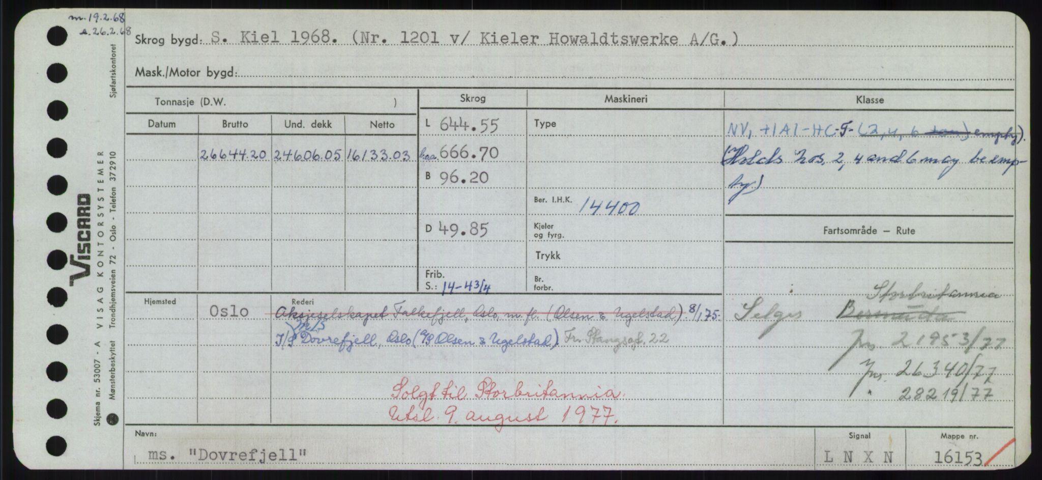 RA, Sjøfartsdirektoratet med forløpere, Skipsmålingen, H/Hd/L0008: Fartøy, C-D, s. 599