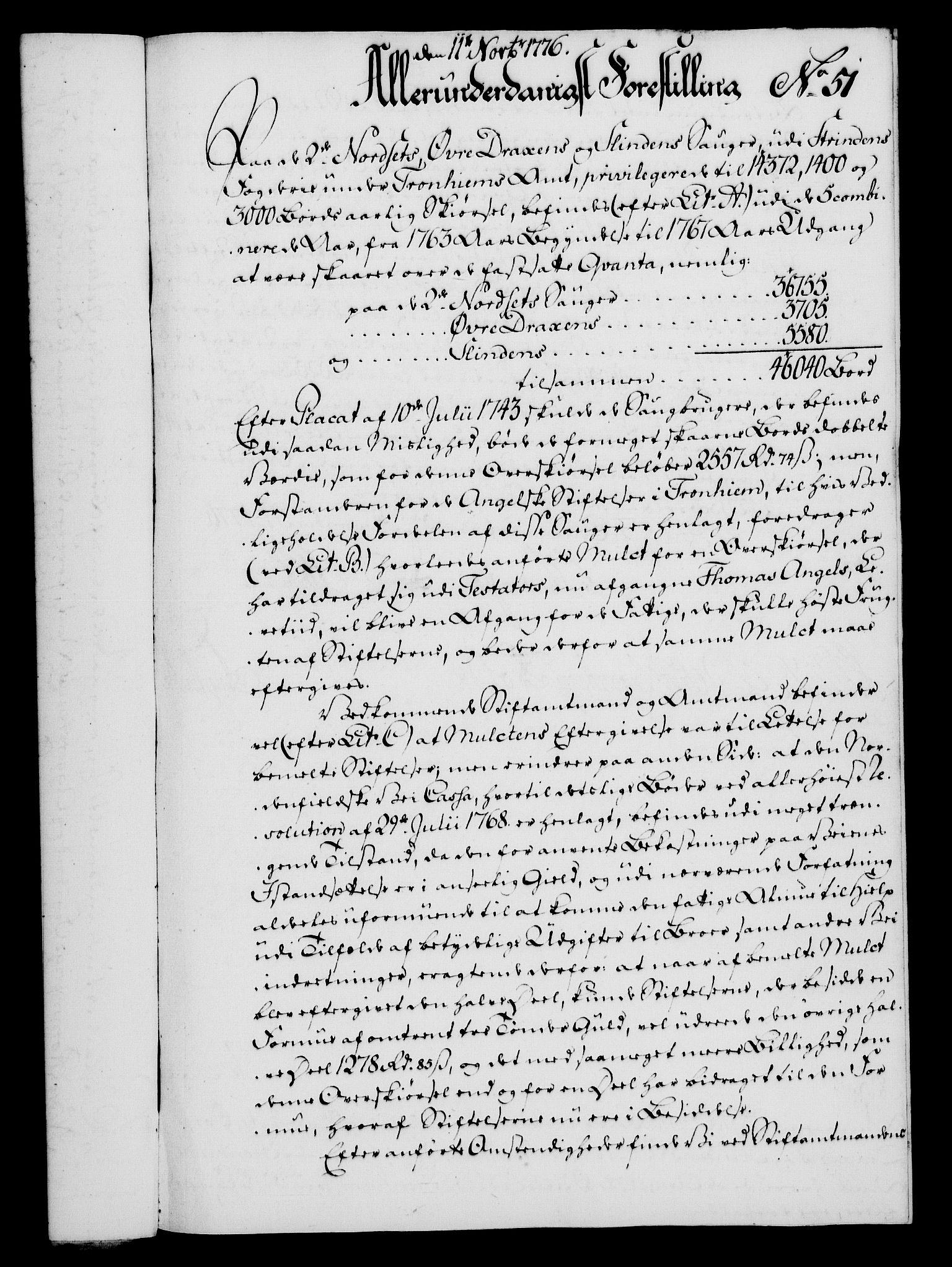 RA, Rentekammeret, Kammerkanselliet, G/Gf/Gfa/L0058: Norsk relasjons- og resolusjonsprotokoll (merket RK 52.58), 1776, s. 207