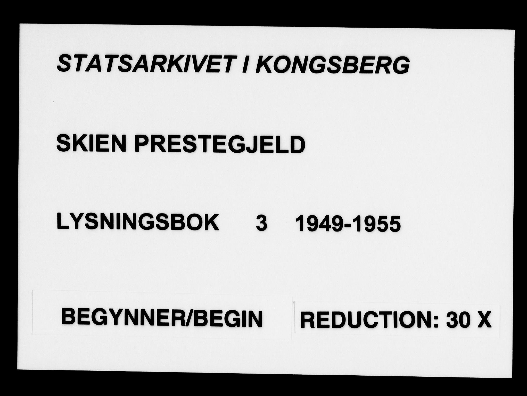 SAKO, Skien kirkebøker, H/Ha/L0003: Lysningsprotokoll nr. 3, 1949-1955