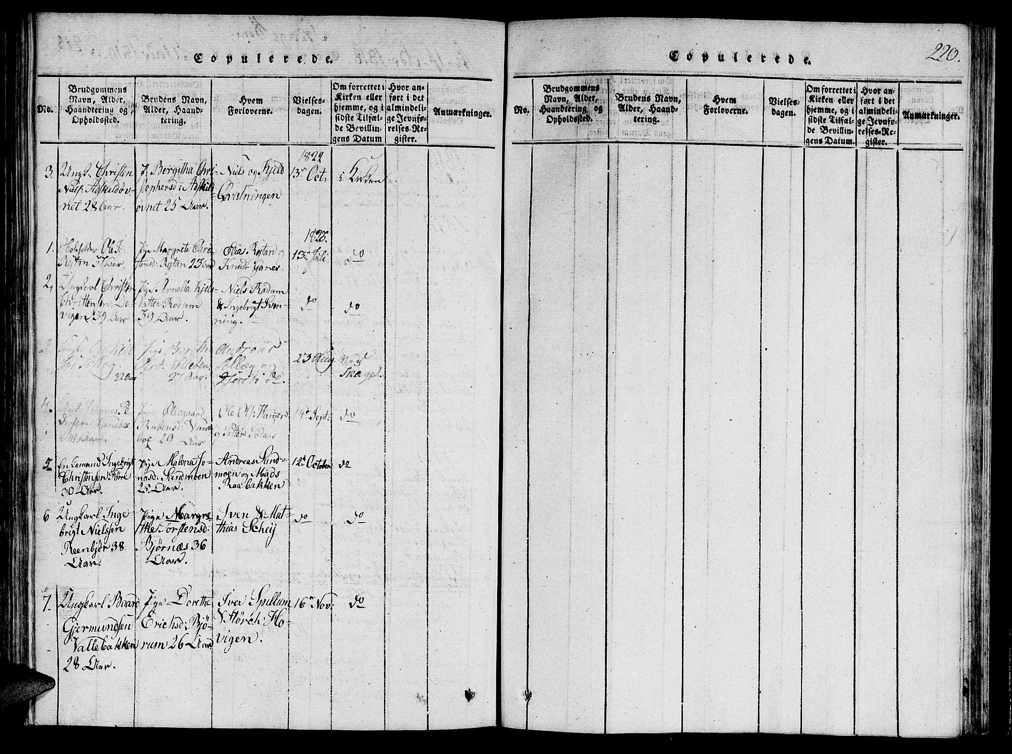 SAT, Ministerialprotokoller, klokkerbøker og fødselsregistre - Nord-Trøndelag, 764/L0546: Ministerialbok nr. 764A06 /4, 1817-1823, s. 220