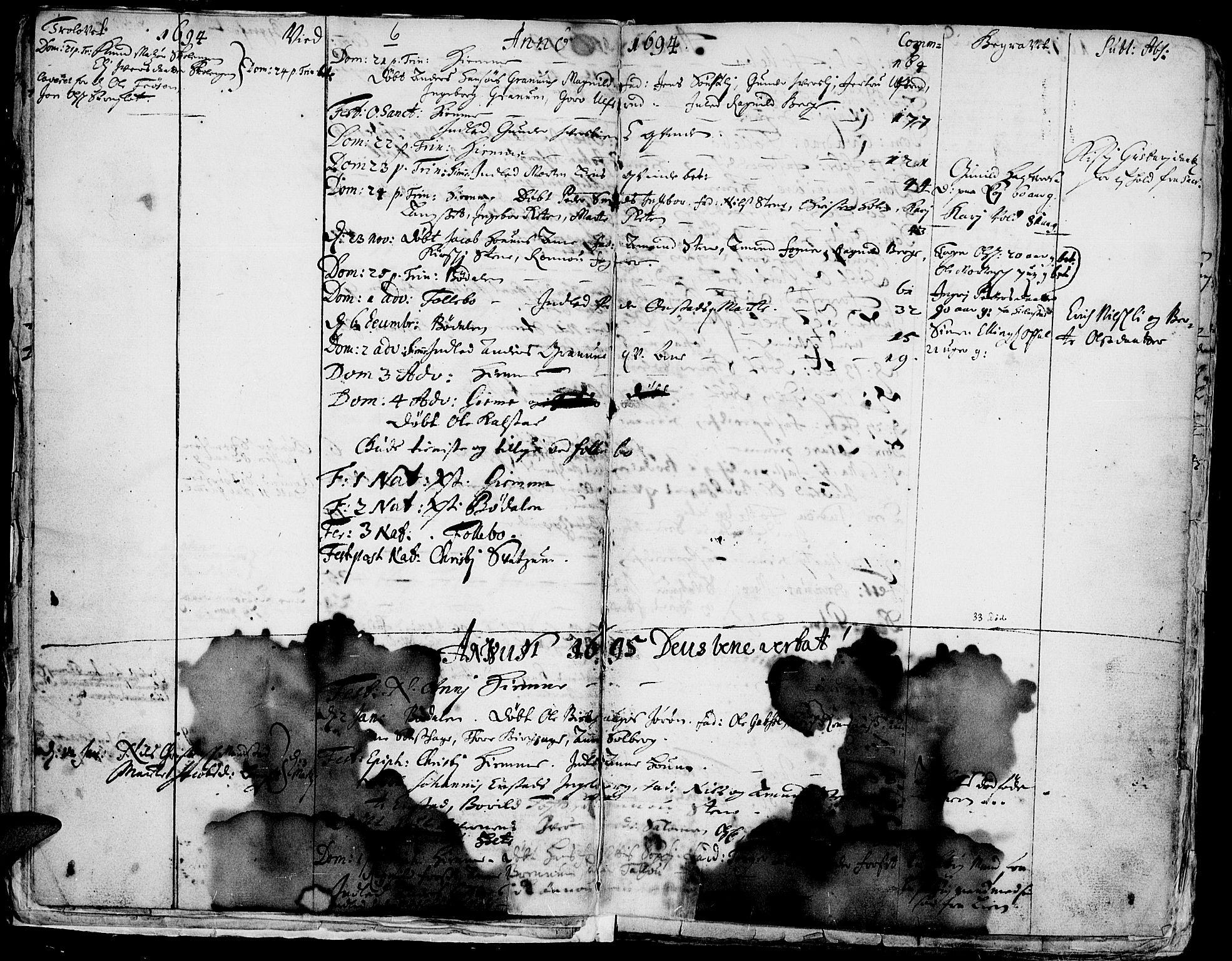 SAH, Gausdal prestekontor, Ministerialbok nr. 1, 1693-1728, s. 6