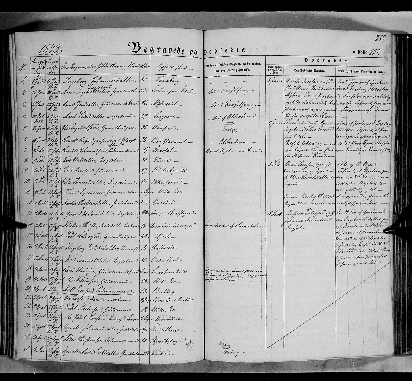 SAH, Biri prestekontor, Ministerialbok nr. 5, 1843-1854, s. 235
