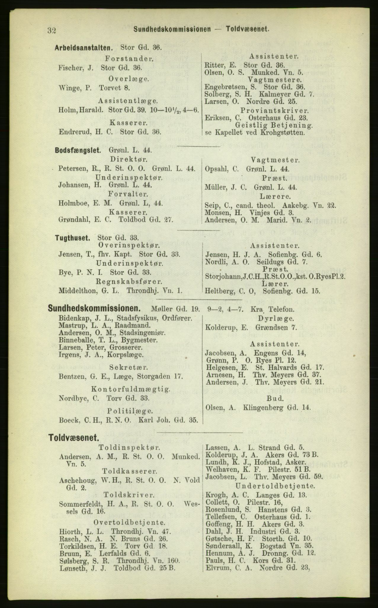 PUBL, Kristiania/Oslo adressebok, 1883, s. 32
