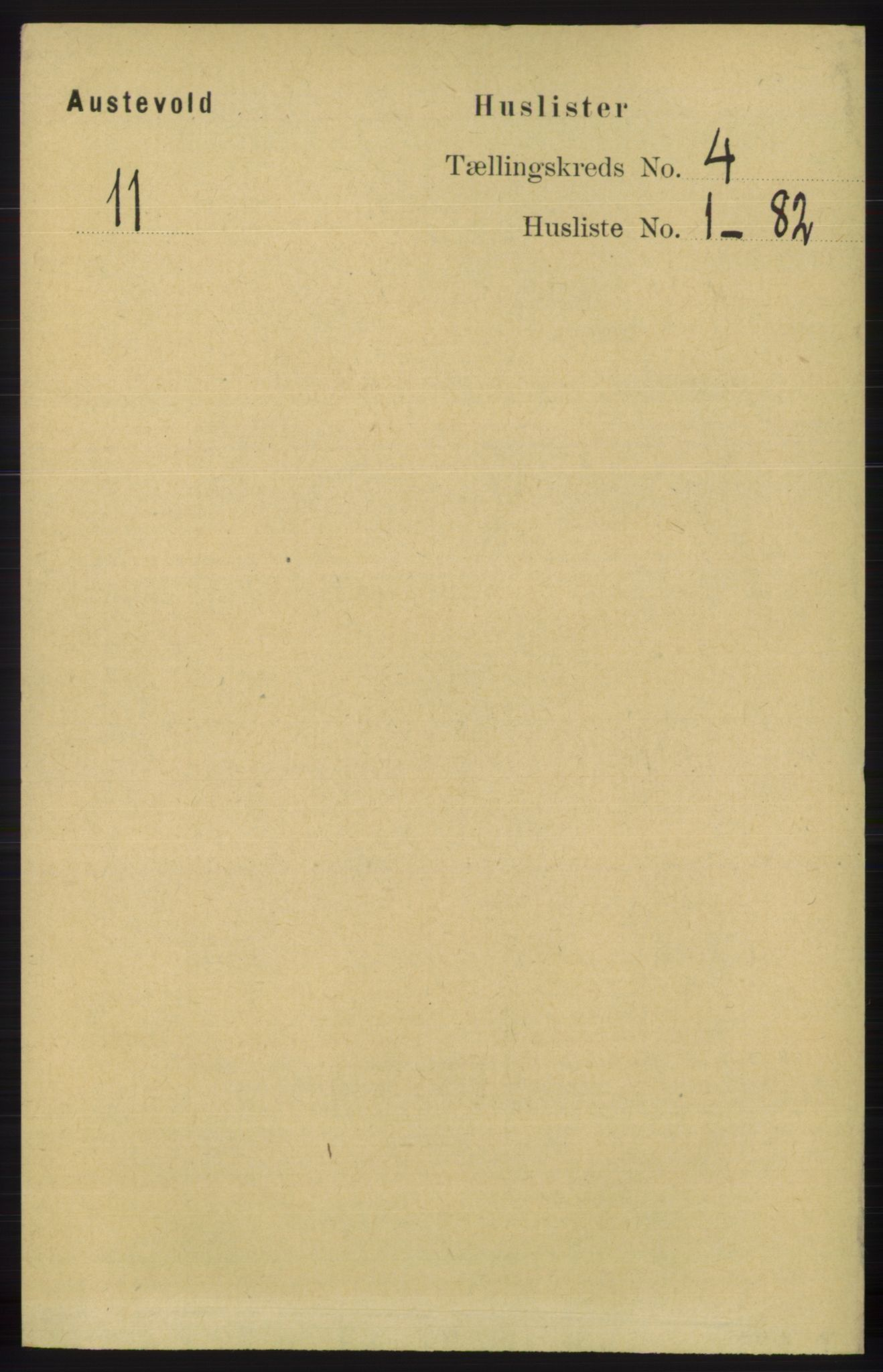 RA, Folketelling 1891 for 1244 Austevoll herred, 1891, s. 1330