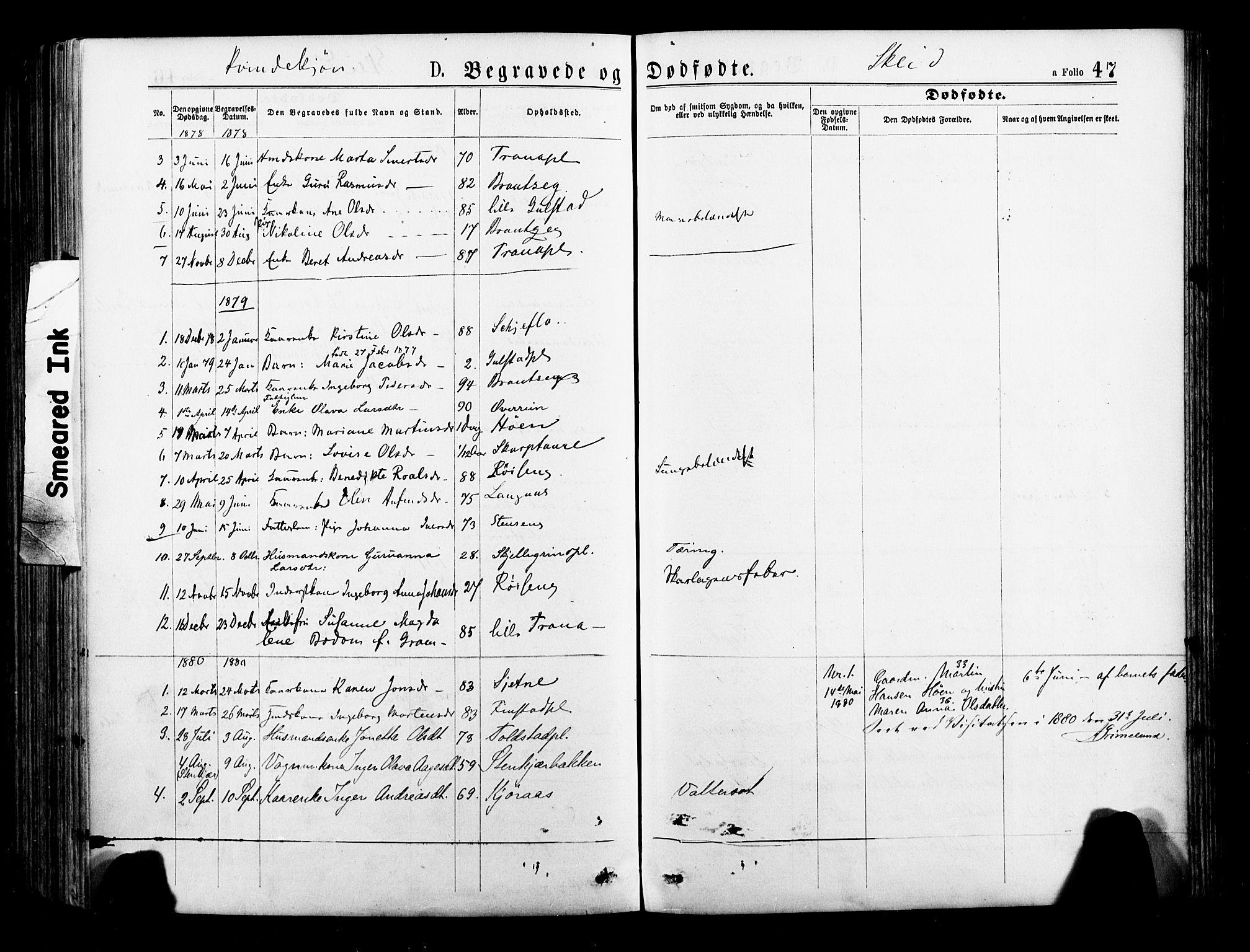 SAT, Ministerialprotokoller, klokkerbøker og fødselsregistre - Nord-Trøndelag, 735/L0348: Ministerialbok nr. 735A09 /2, 1873-1883, s. 47