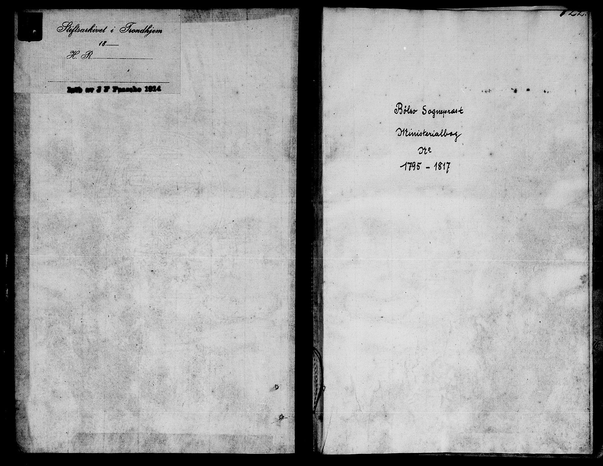 SAT, Ministerialprotokoller, klokkerbøker og fødselsregistre - Møre og Romsdal, 555/L0649: Ministerialbok nr. 555A02 /1, 1795-1821