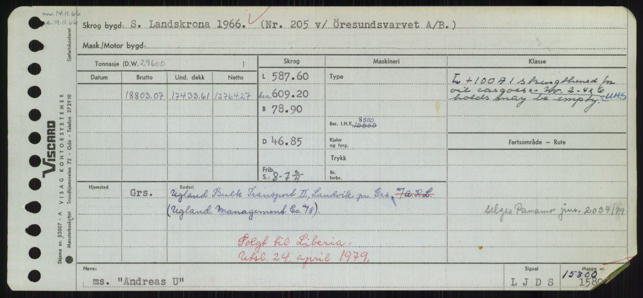 RA, Sjøfartsdirektoratet med forløpere, Skipsmålingen, H/Hd/L0001: Fartøy, A-Anv, s. 573