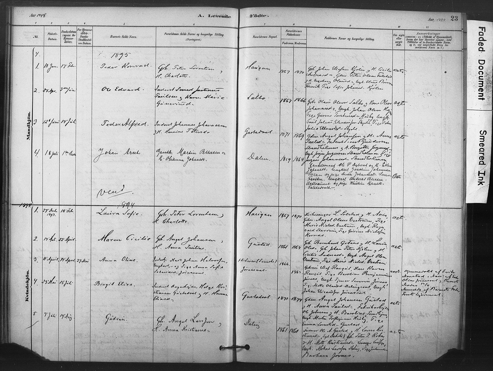 SAT, Ministerialprotokoller, klokkerbøker og fødselsregistre - Nord-Trøndelag, 719/L0178: Ministerialbok nr. 719A01, 1878-1900, s. 23