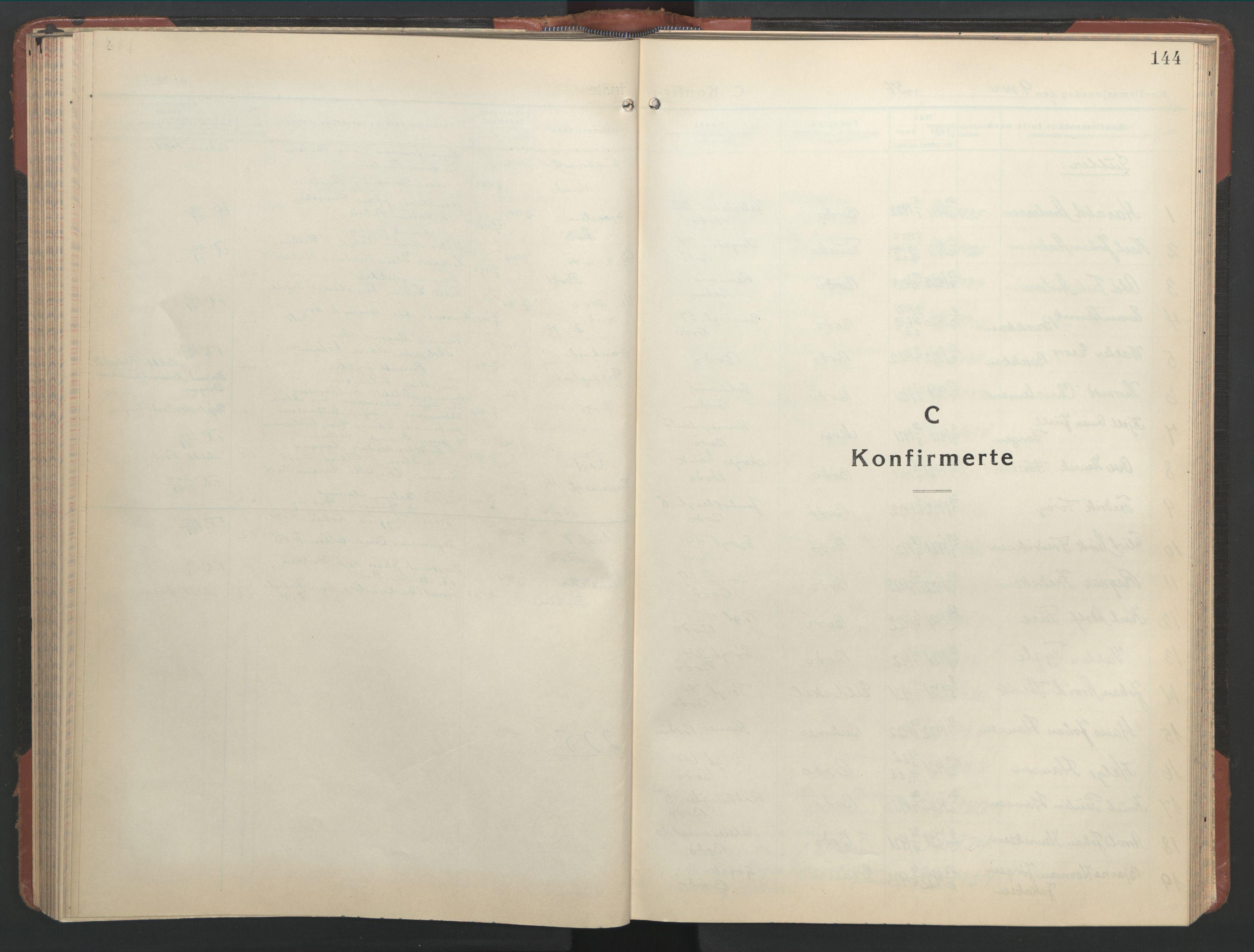 SAT, Ministerialprotokoller, klokkerbøker og fødselsregistre - Nordland, 801/L0039: Klokkerbok nr. 801C14, 1937-1951, s. 144