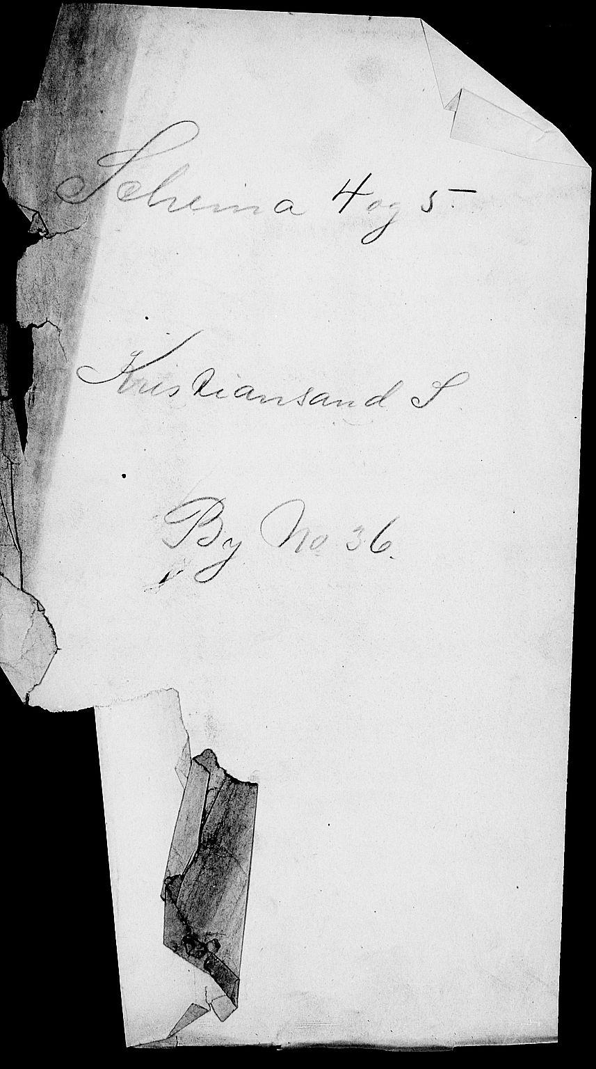 SAK, Folketelling 1900 for 1001 Kristiansand kjøpstad, 1900, s. 1