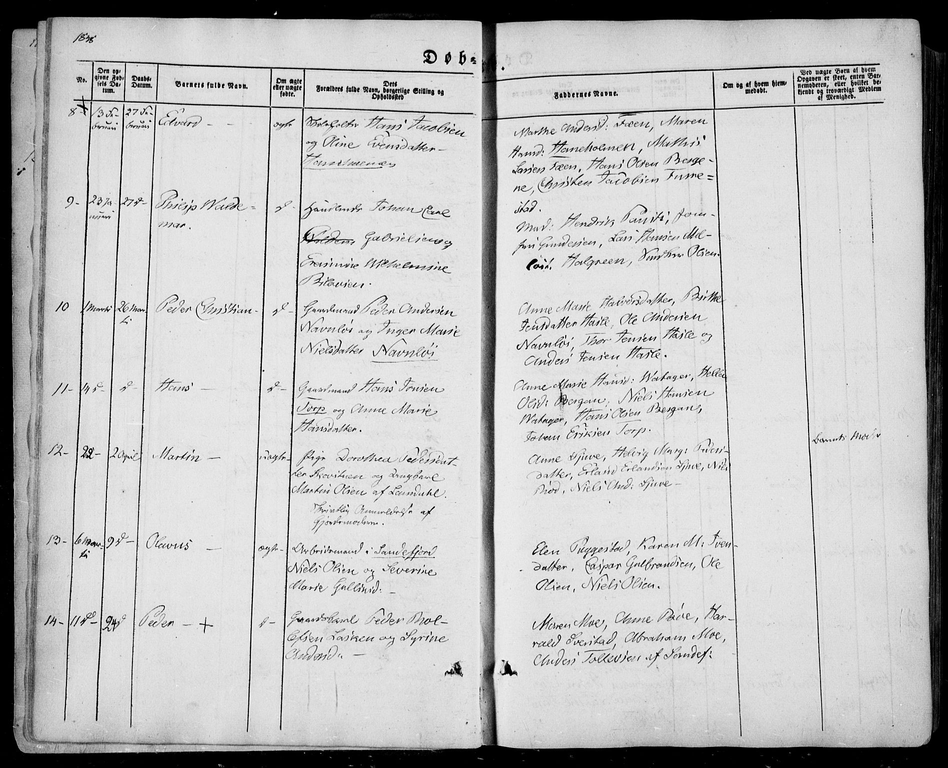 SAKO, Sandar kirkebøker, F/Fa/L0006: Ministerialbok nr. 6, 1847-1860, s. 6b