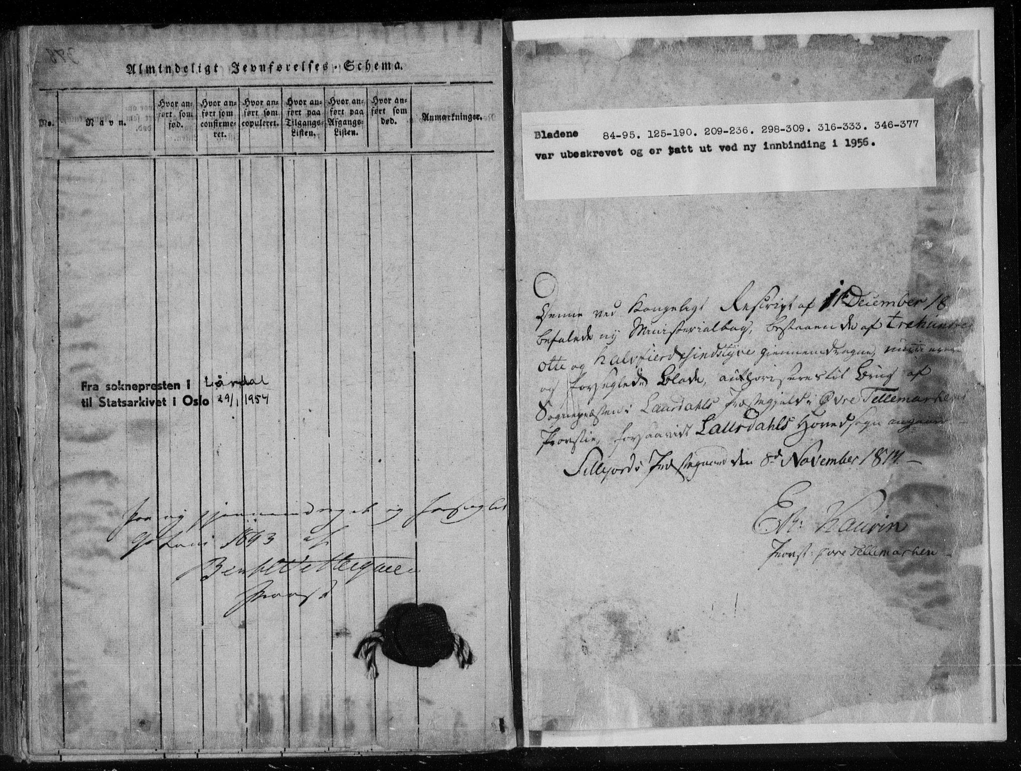 SAKO, Lårdal kirkebøker, F/Fa/L0005: Ministerialbok nr. I 5, 1815-1860