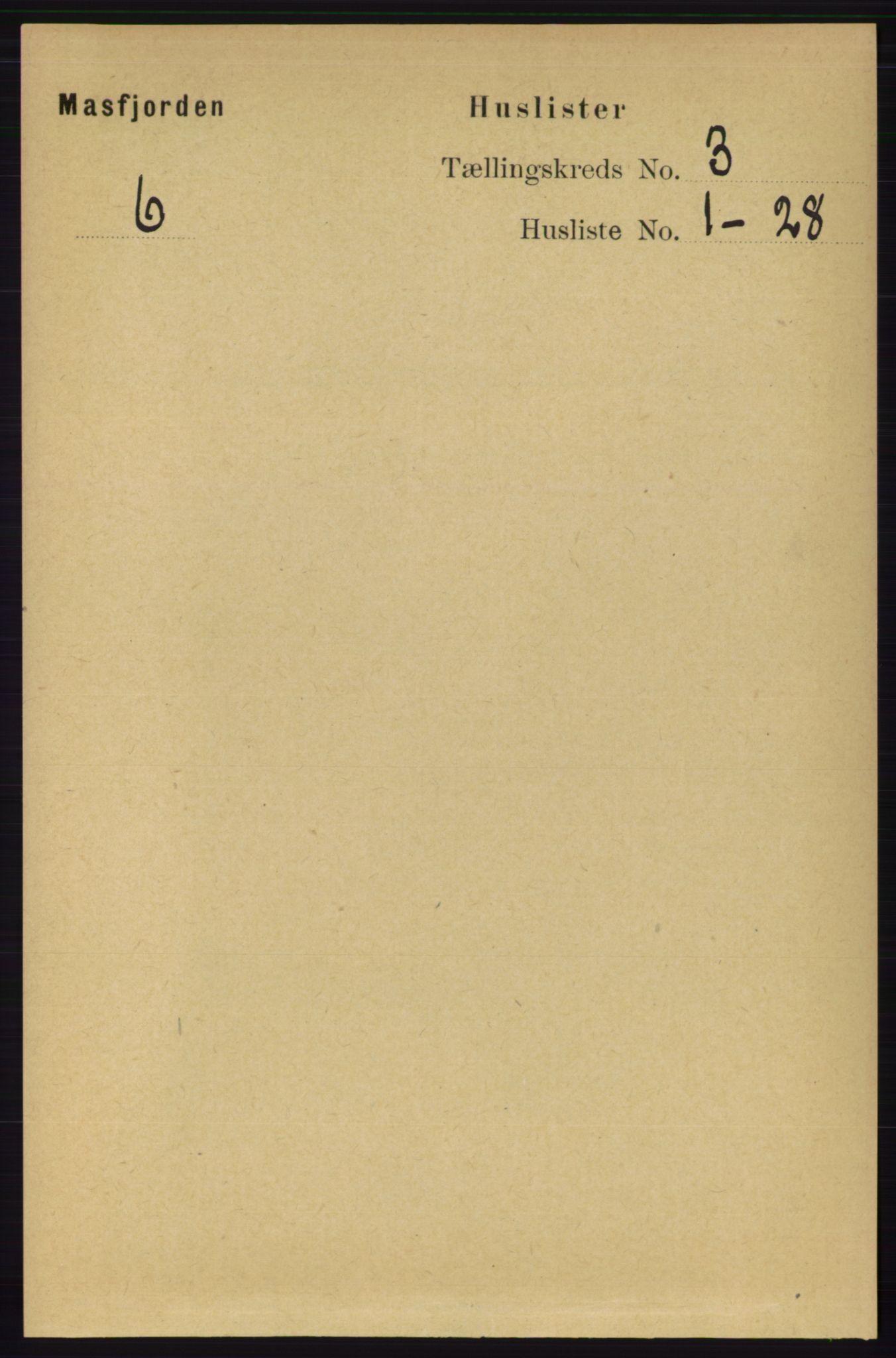 RA, Folketelling 1891 for 1266 Masfjorden herred, 1891, s. 495