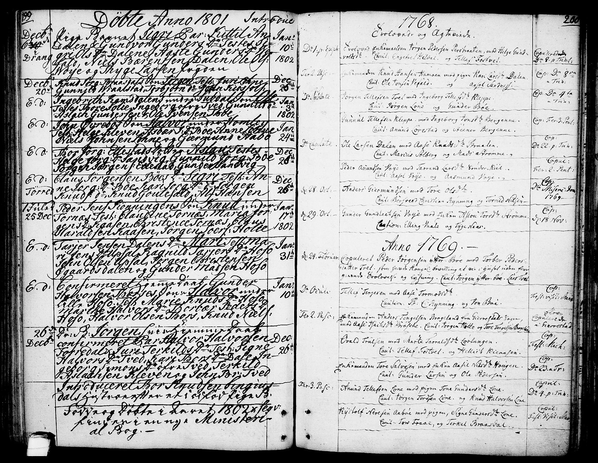 SAKO, Drangedal kirkebøker, F/Fa/L0003: Ministerialbok nr. 3, 1768-1814, s. 199-200