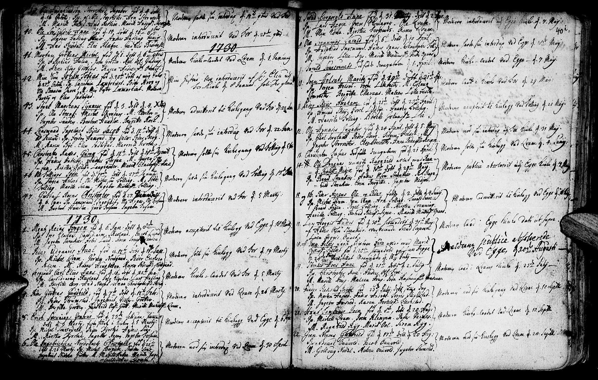 SAT, Ministerialprotokoller, klokkerbøker og fødselsregistre - Nord-Trøndelag, 746/L0439: Ministerialbok nr. 746A01, 1688-1759, s. 40j