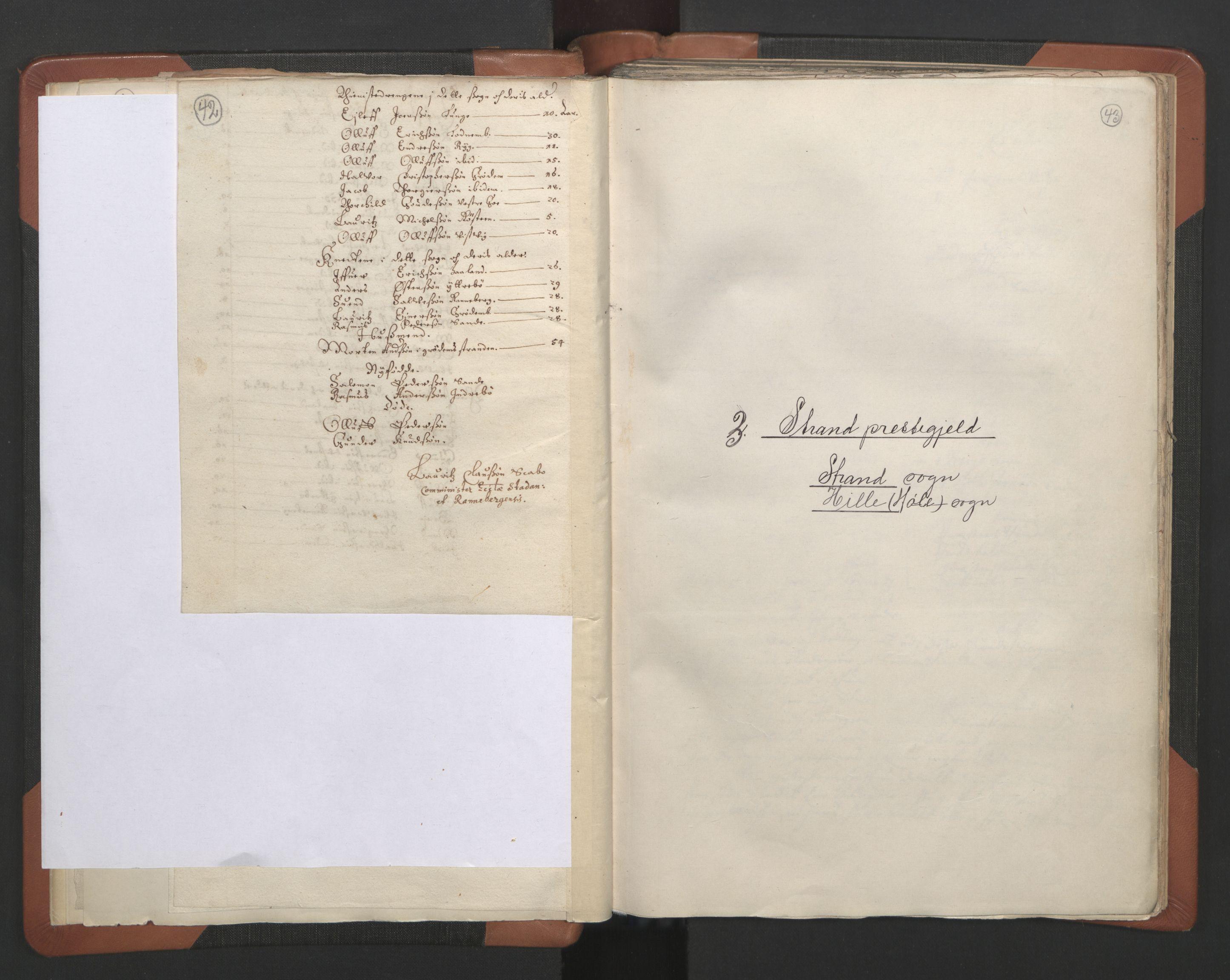 RA, Sogneprestenes manntall 1664-1666, nr. 18: Stavanger prosti og Karmsund prosti, 1664-1666, s. 42-43