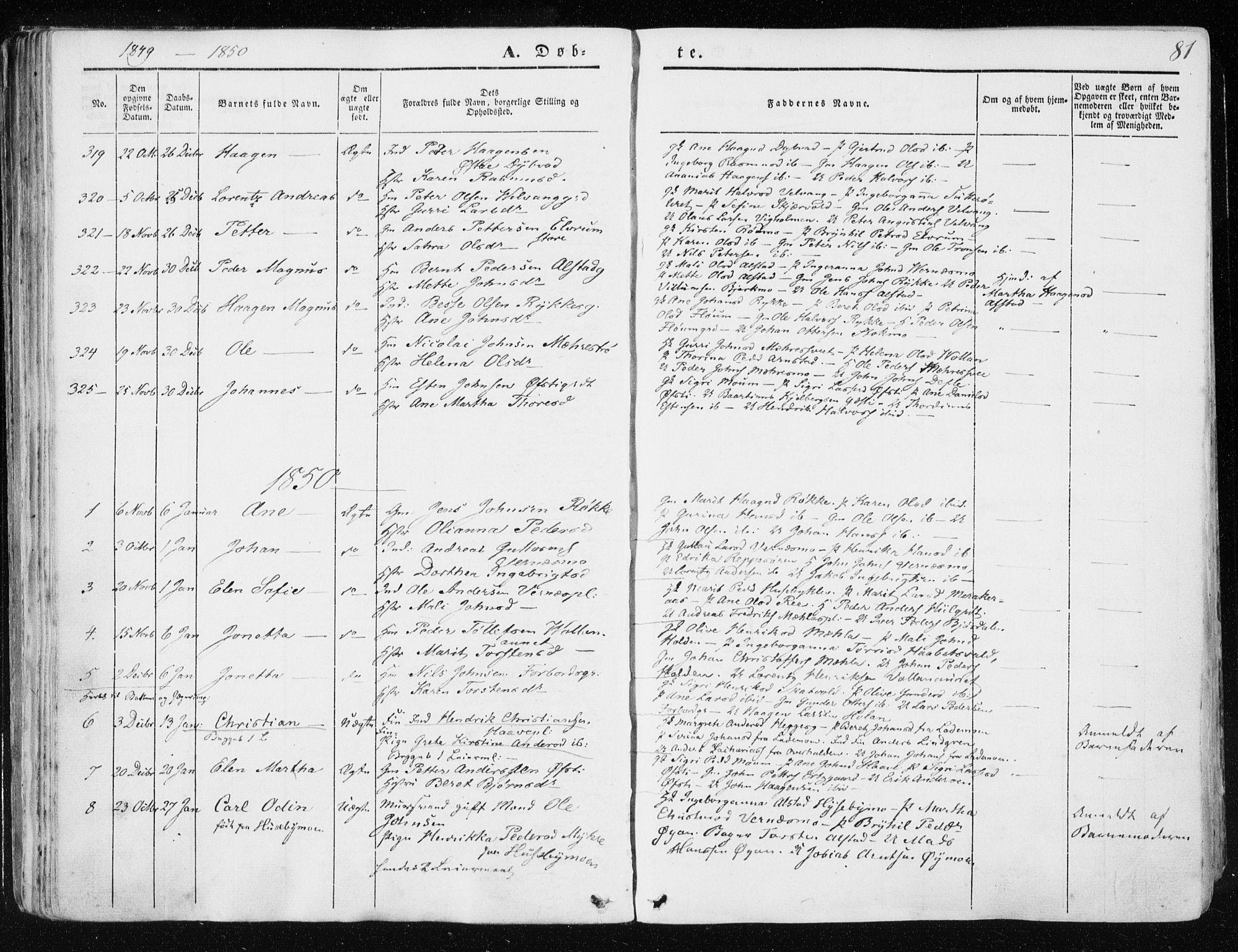 SAT, Ministerialprotokoller, klokkerbøker og fødselsregistre - Nord-Trøndelag, 709/L0074: Ministerialbok nr. 709A14, 1845-1858, s. 81