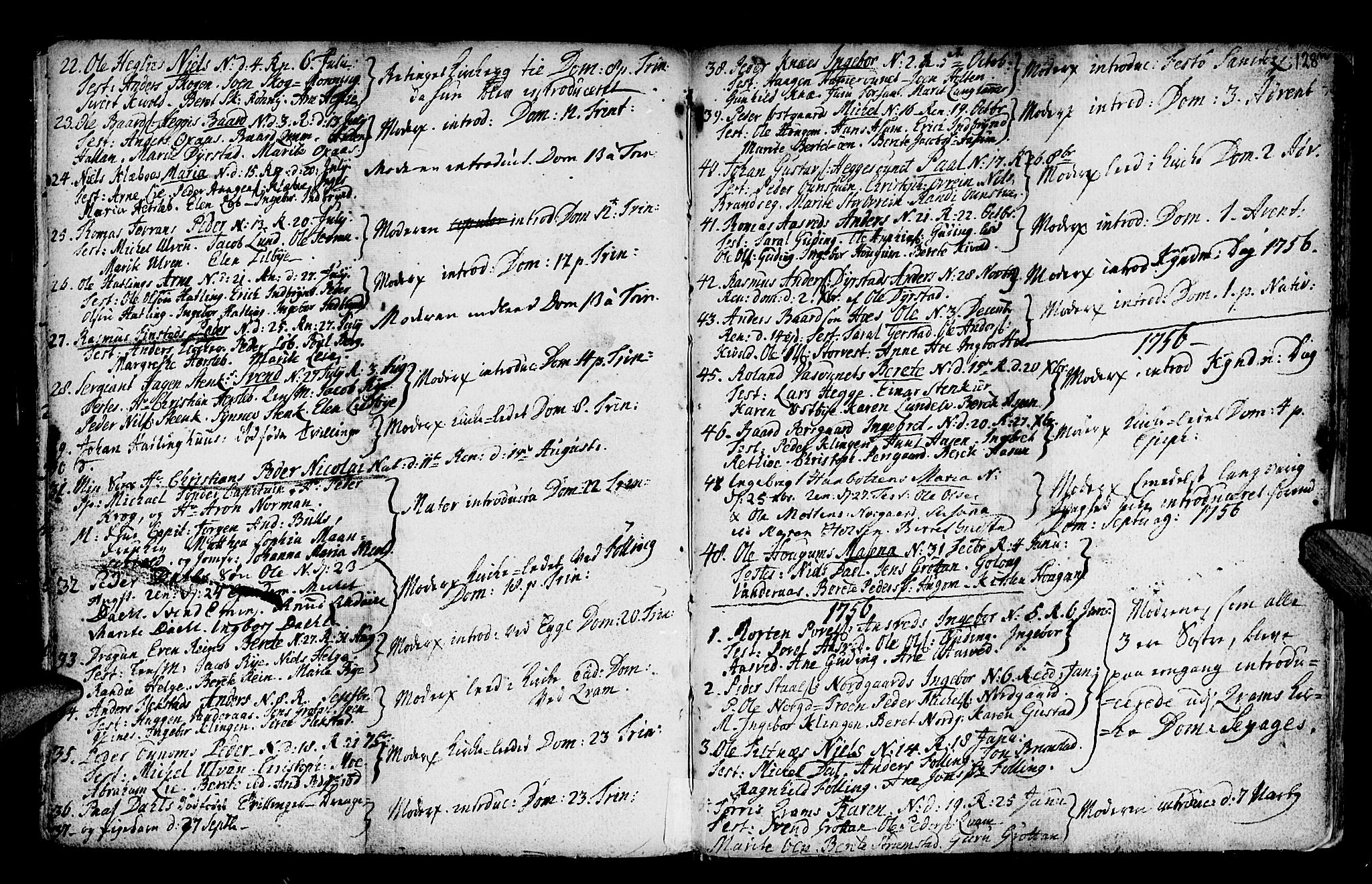 SAT, Ministerialprotokoller, klokkerbøker og fødselsregistre - Nord-Trøndelag, 746/L0439: Ministerialbok nr. 746A01, 1688-1759, s. 128m