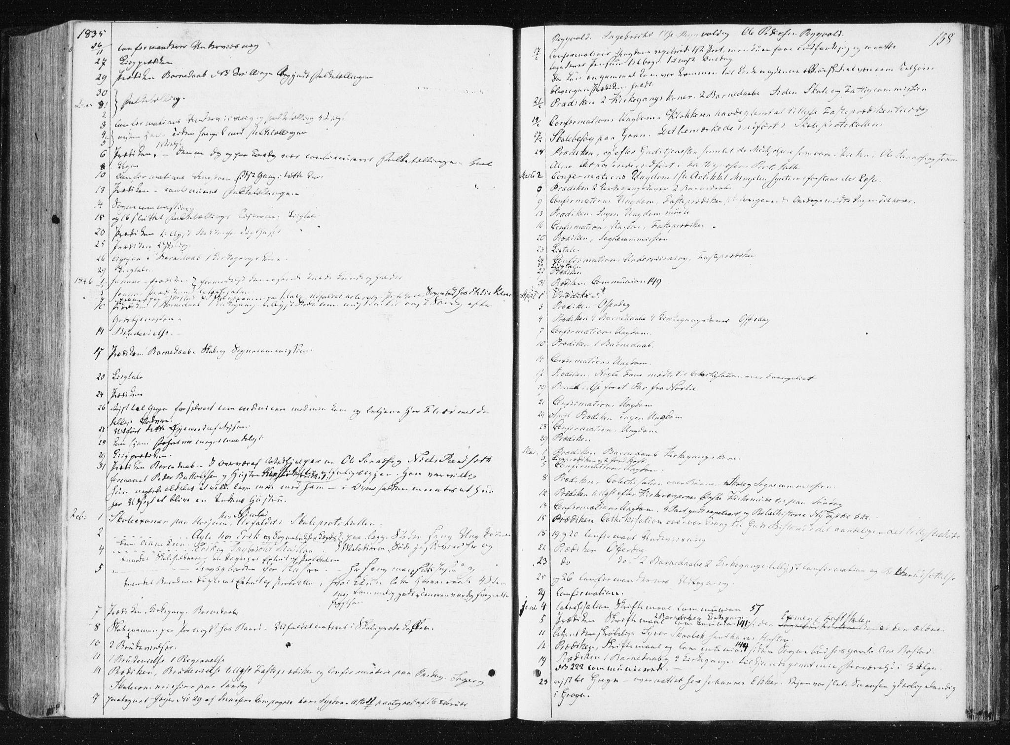 SAT, Ministerialprotokoller, klokkerbøker og fødselsregistre - Nord-Trøndelag, 749/L0470: Ministerialbok nr. 749A04, 1834-1853, s. 158