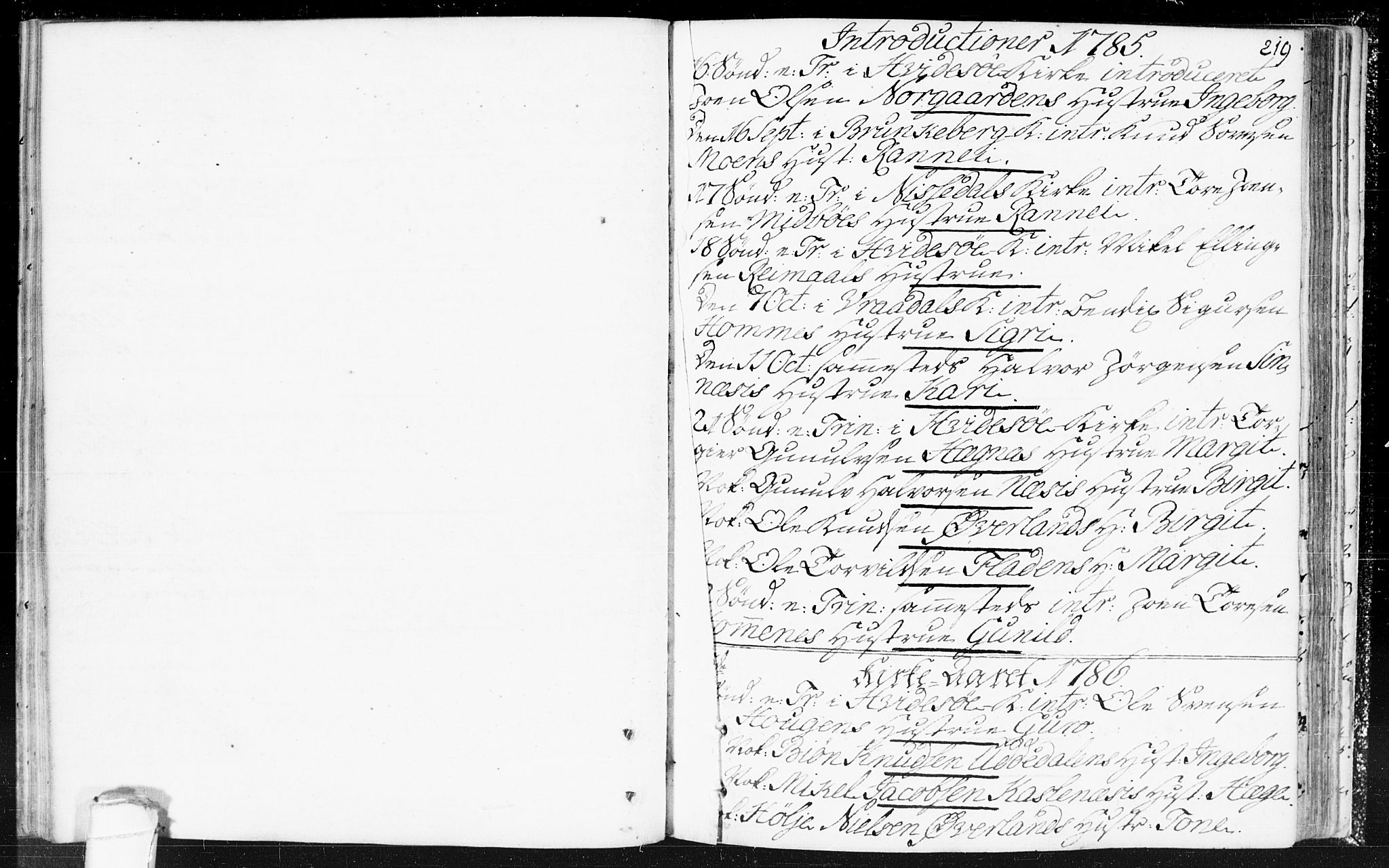 SAKO, Kviteseid kirkebøker, F/Fa/L0002: Ministerialbok nr. I 2, 1773-1786, s. 219