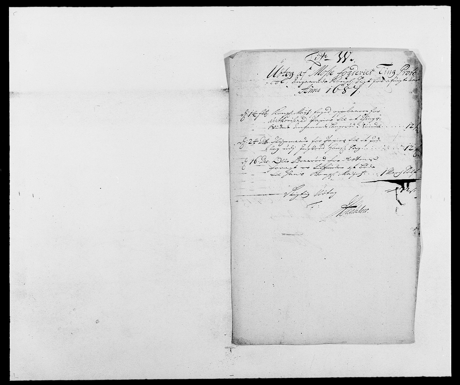 RA, Rentekammeret inntil 1814, Reviderte regnskaper, Fogderegnskap, R02/L0105: Fogderegnskap Moss og Verne kloster, 1685-1687, s. 318