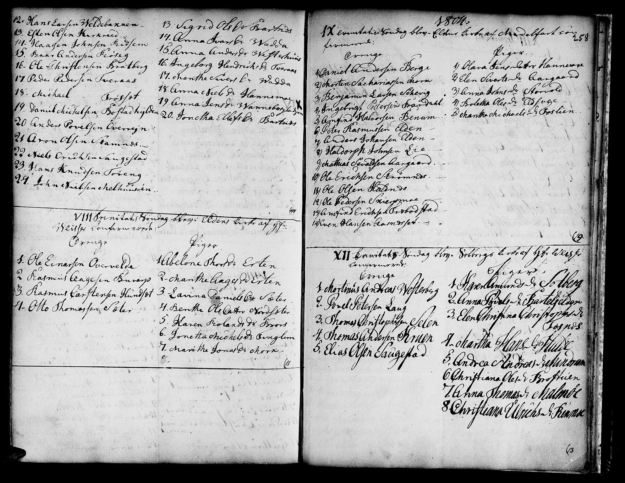 SAT, Ministerialprotokoller, klokkerbøker og fødselsregistre - Nord-Trøndelag, 741/L0385: Ministerialbok nr. 741A01, 1722-1815, s. 258