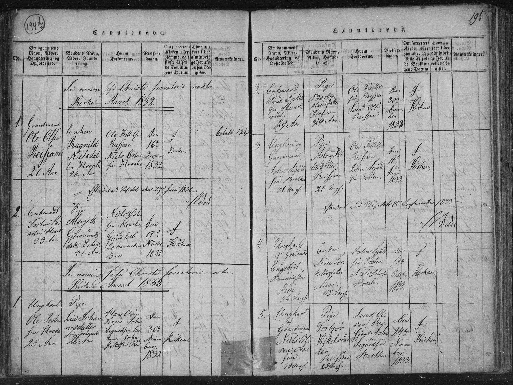 SAKO, Hjartdal kirkebøker, F/Fc/L0001: Ministerialbok nr. III 1, 1815-1843, s. 195