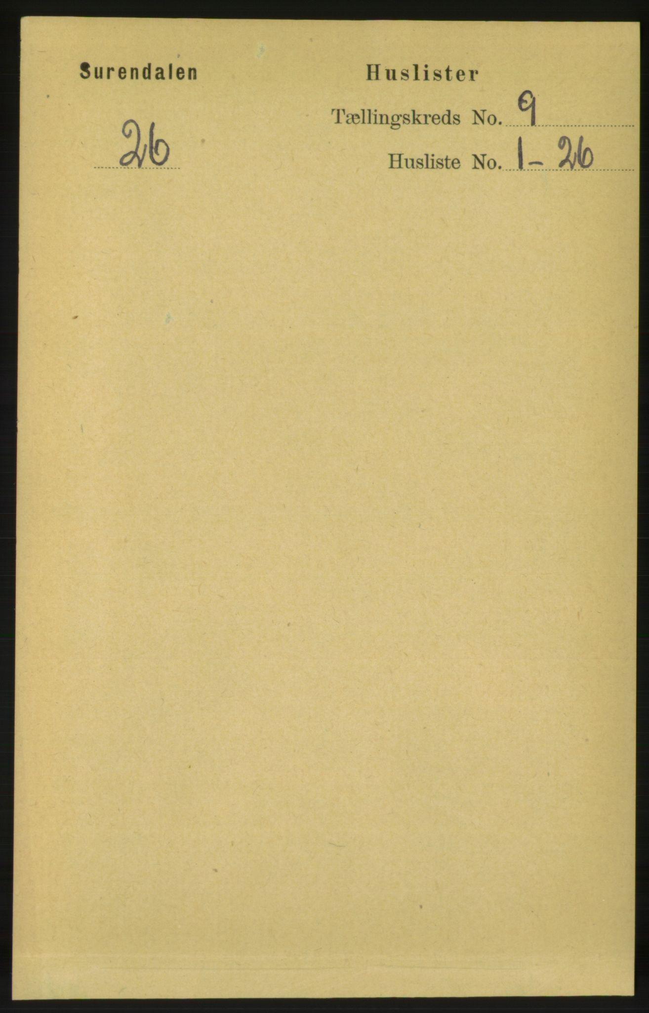 RA, Folketelling 1891 for 1566 Surnadal herred, 1891, s. 2315