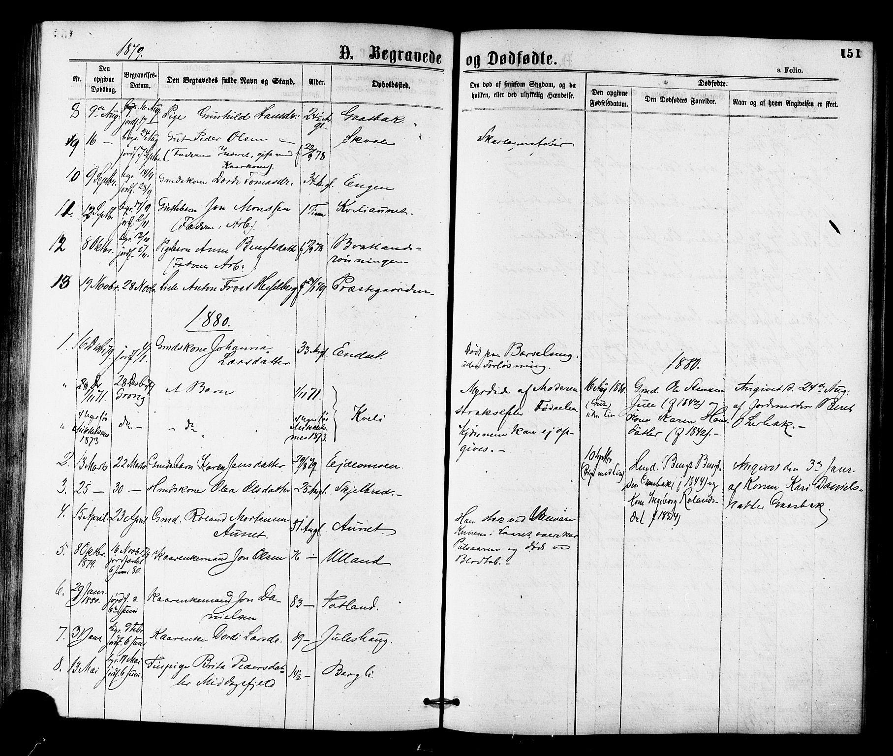 SAT, Ministerialprotokoller, klokkerbøker og fødselsregistre - Nord-Trøndelag, 755/L0493: Ministerialbok nr. 755A02, 1865-1881, s. 151