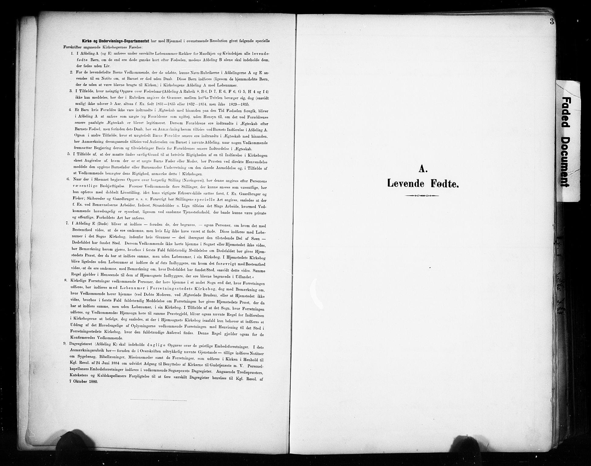 SAH, Vestre Toten prestekontor, Ministerialbok nr. 11, 1895-1906, s. 3