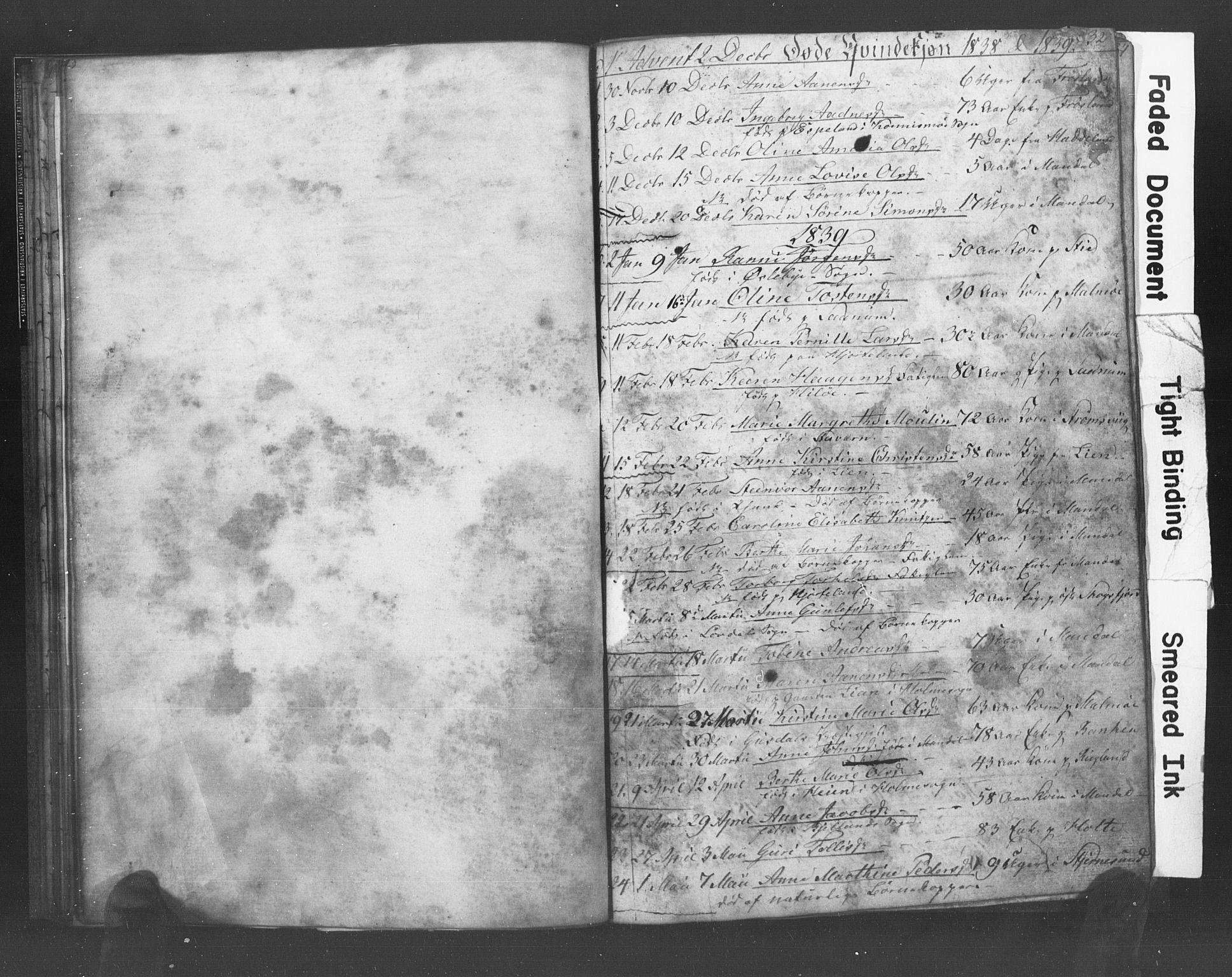 SAK, Mandal sokneprestkontor, F/Fb/Fba/L0004: Klokkerbok nr. B 1D, 1838-1841, s. 32