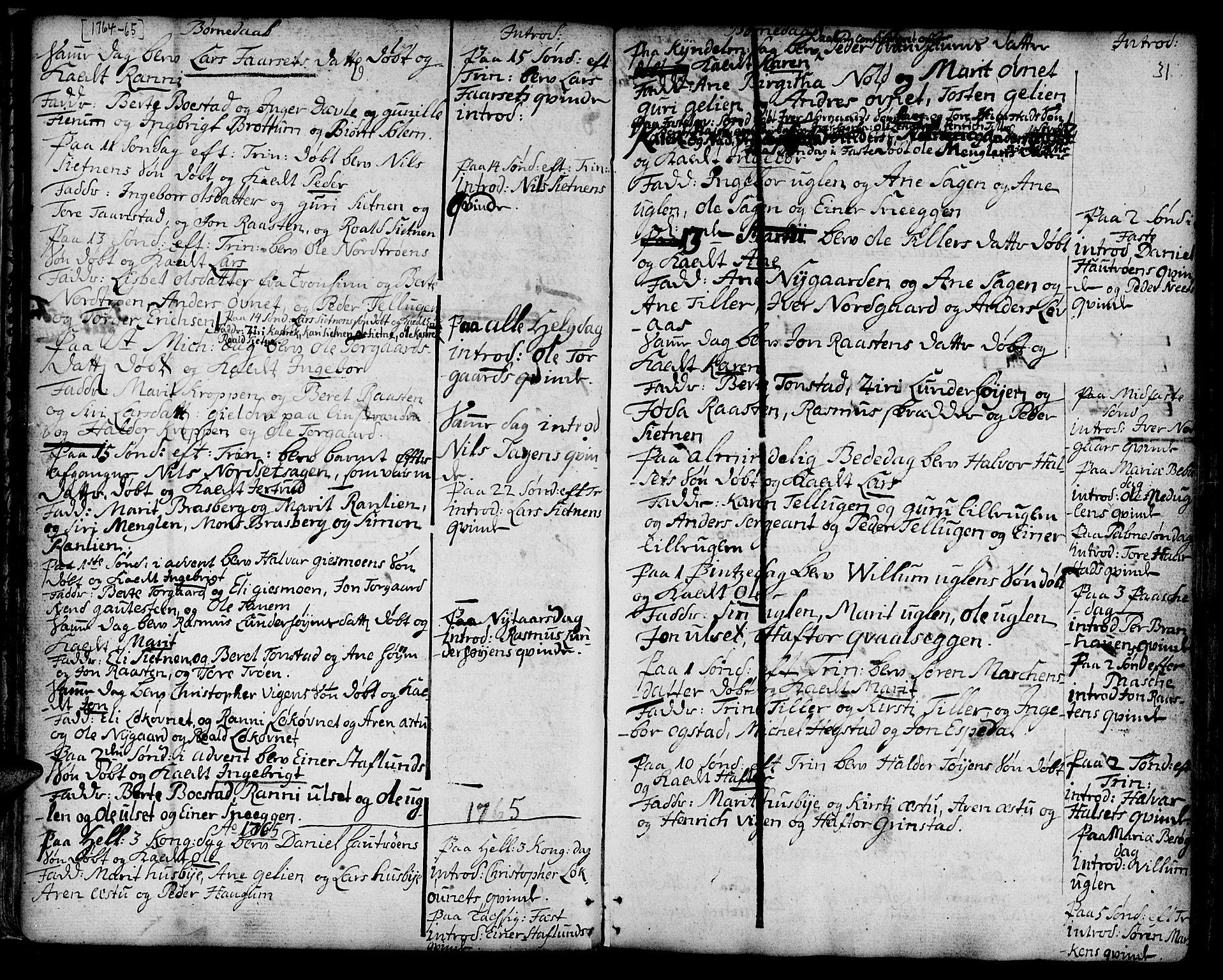 SAT, Ministerialprotokoller, klokkerbøker og fødselsregistre - Sør-Trøndelag, 618/L0437: Ministerialbok nr. 618A02, 1749-1782, s. 31