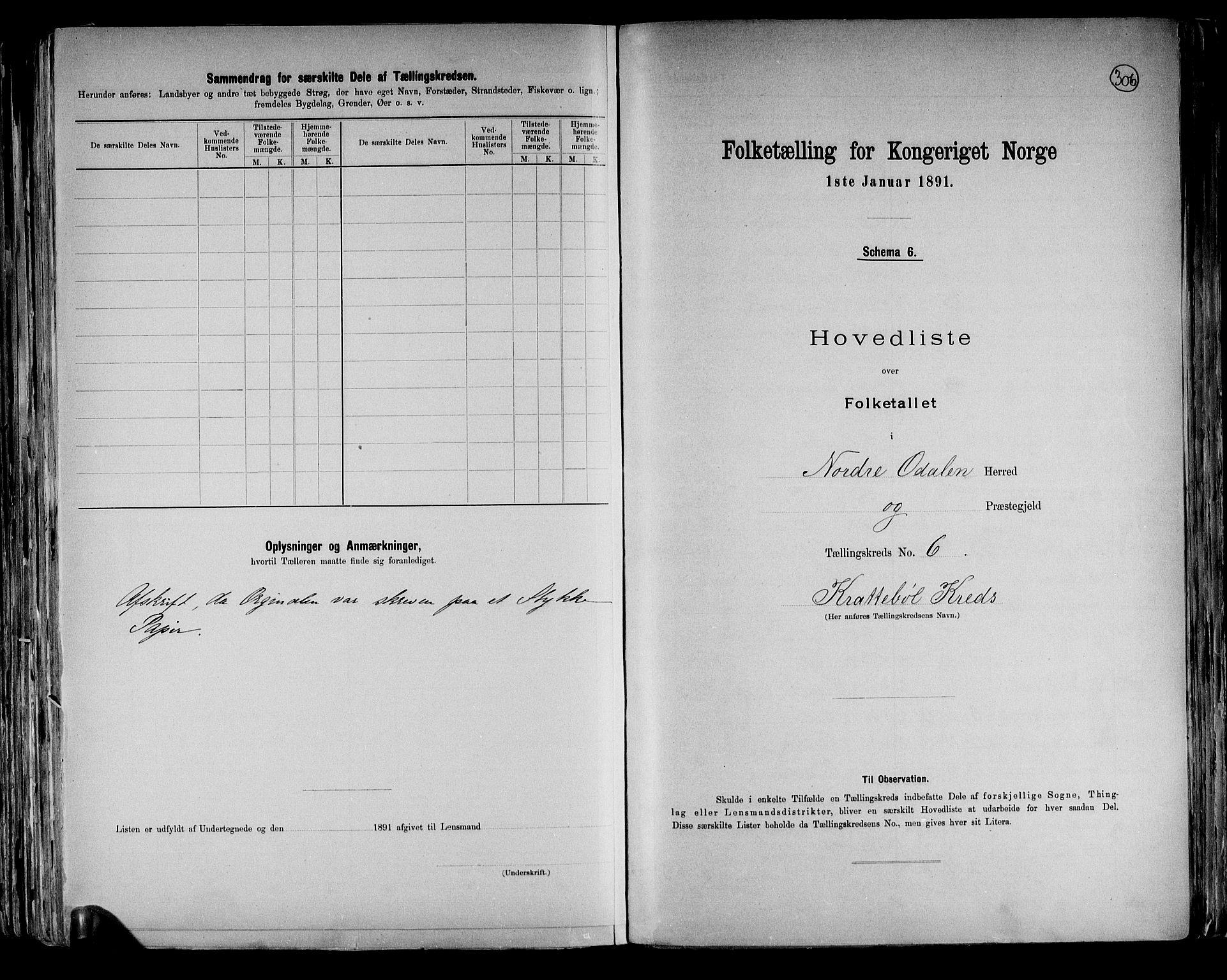 RA, Folketelling 1891 for 0418 Nord-Odal herred, 1891, s. 18