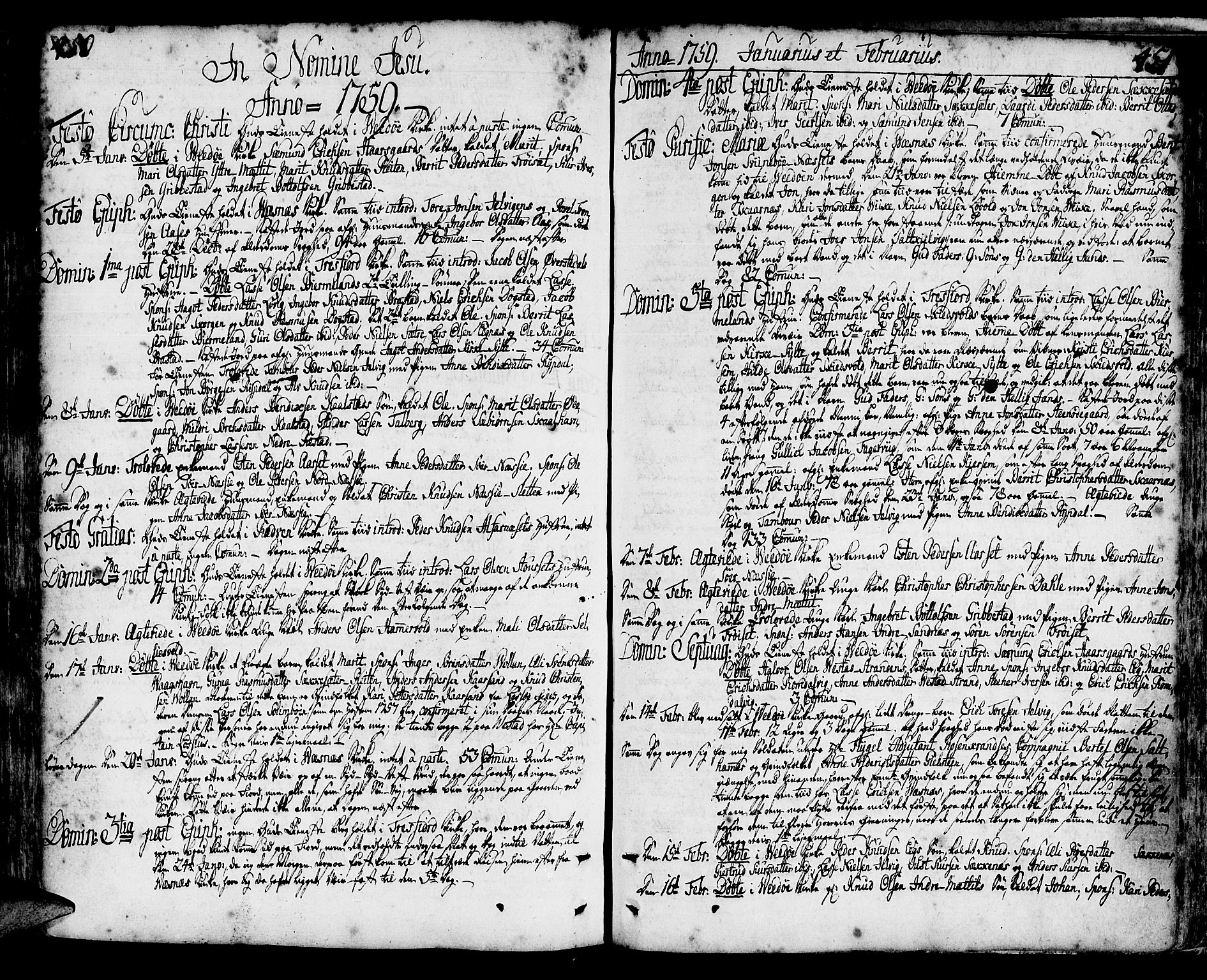 SAT, Ministerialprotokoller, klokkerbøker og fødselsregistre - Møre og Romsdal, 547/L0599: Ministerialbok nr. 547A01, 1721-1764, s. 450-451