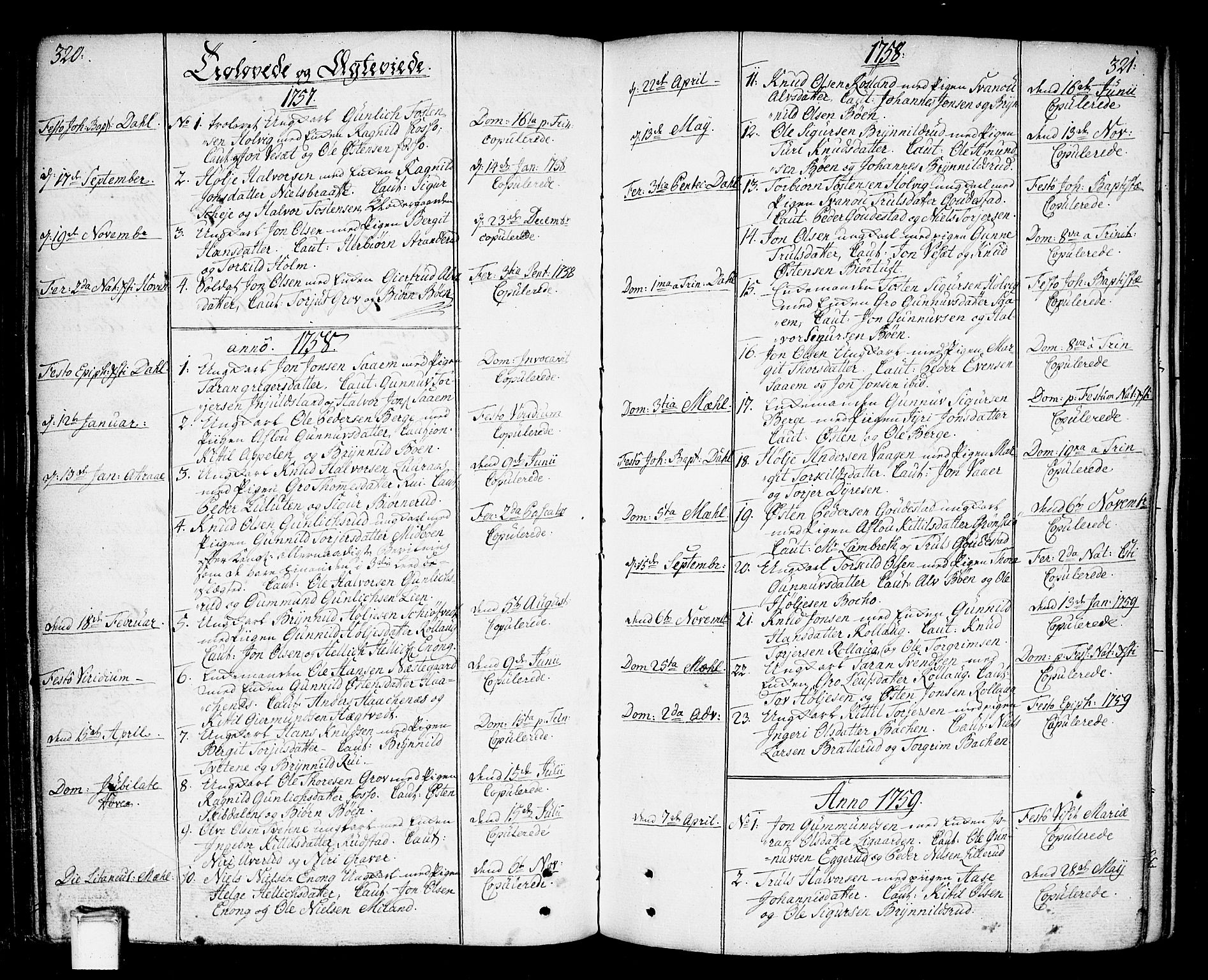 SAKO, Tinn kirkebøker, F/Fa/L0002: Ministerialbok nr. I 2, 1757-1810, s. 320-321