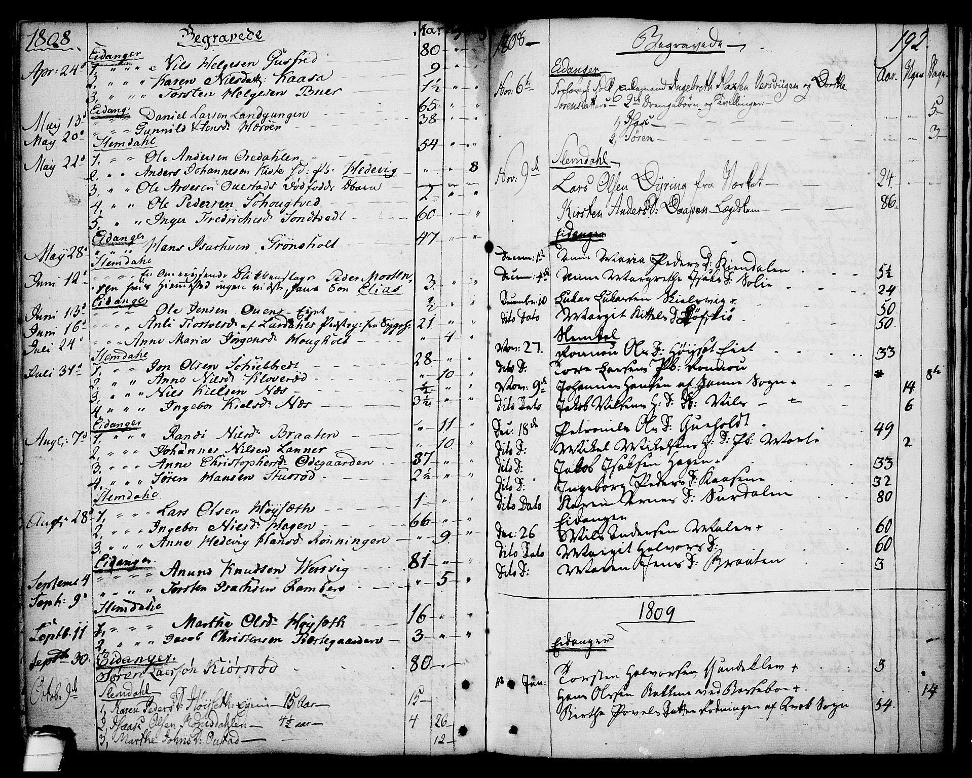 SAKO, Eidanger kirkebøker, F/Fa/L0006: Ministerialbok nr. 6, 1764-1814, s. 192