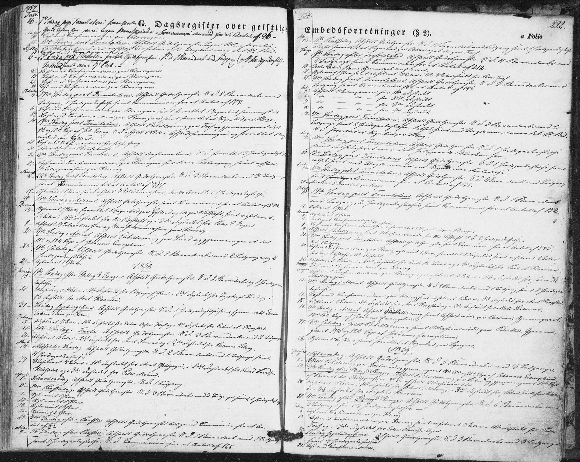 SAT, Ministerialprotokoller, klokkerbøker og fødselsregistre - Sør-Trøndelag, 692/L1103: Ministerialbok nr. 692A03, 1849-1870, s. 292