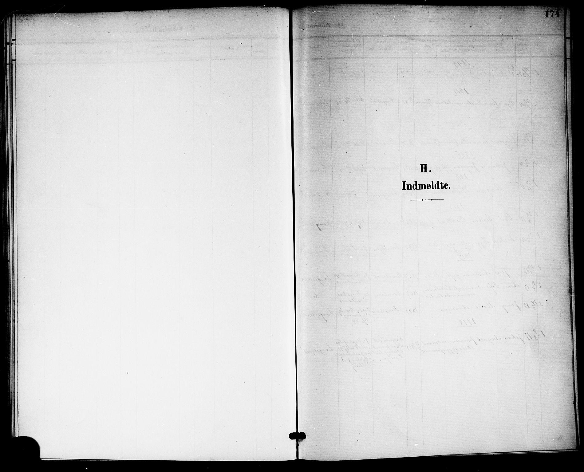 SAKO, Langesund kirkebøker, G/Ga/L0006: Klokkerbok nr. 6, 1899-1918, s. 174
