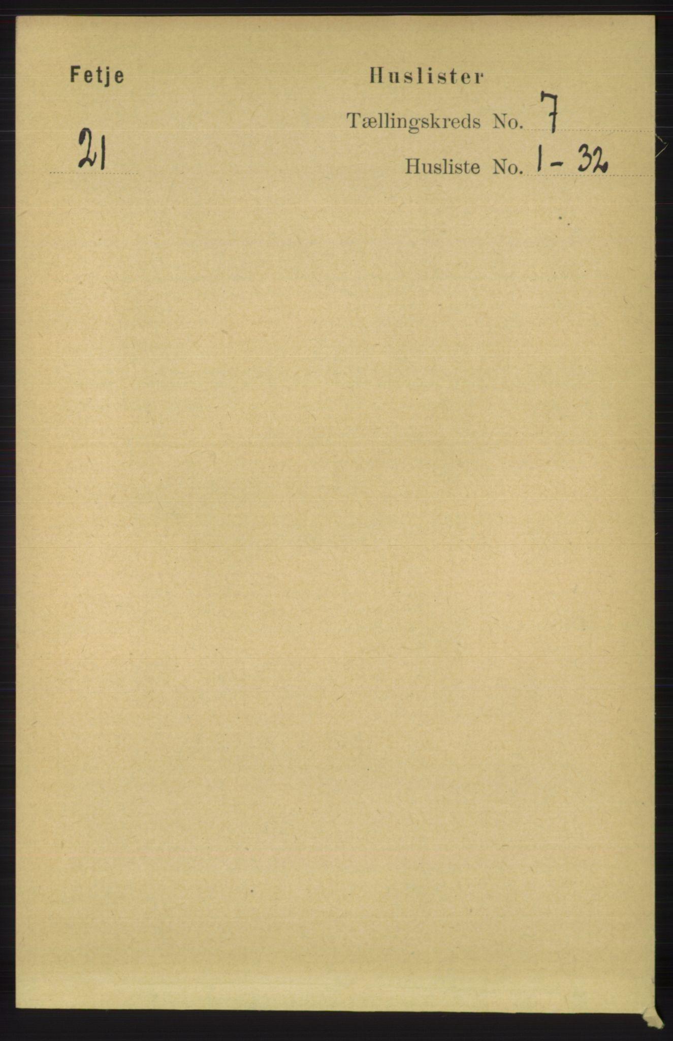 RA, Folketelling 1891 for 1222 Fitjar herred, 1891, s. 2745
