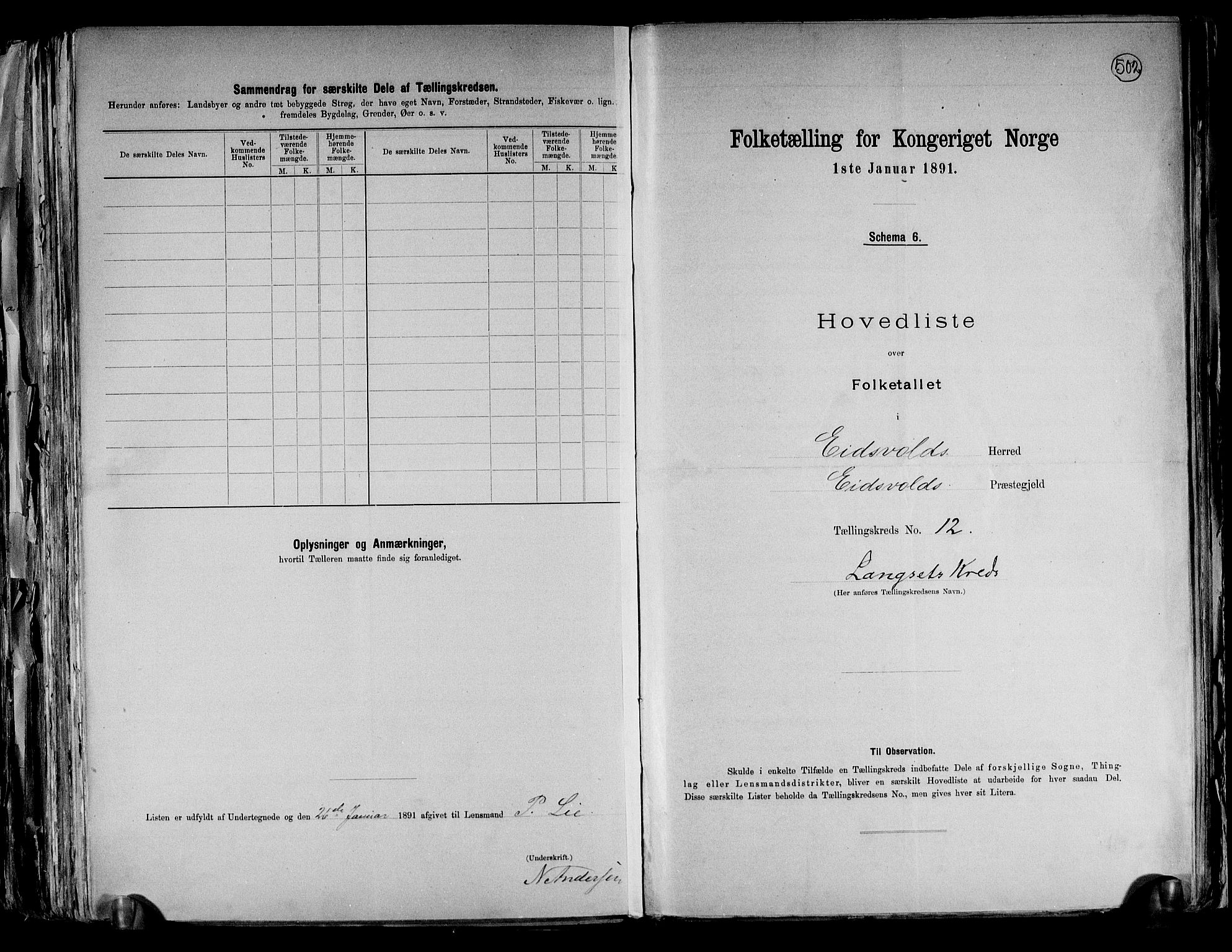 RA, Folketelling 1891 for 0237 Eidsvoll herred, 1891, s. 39