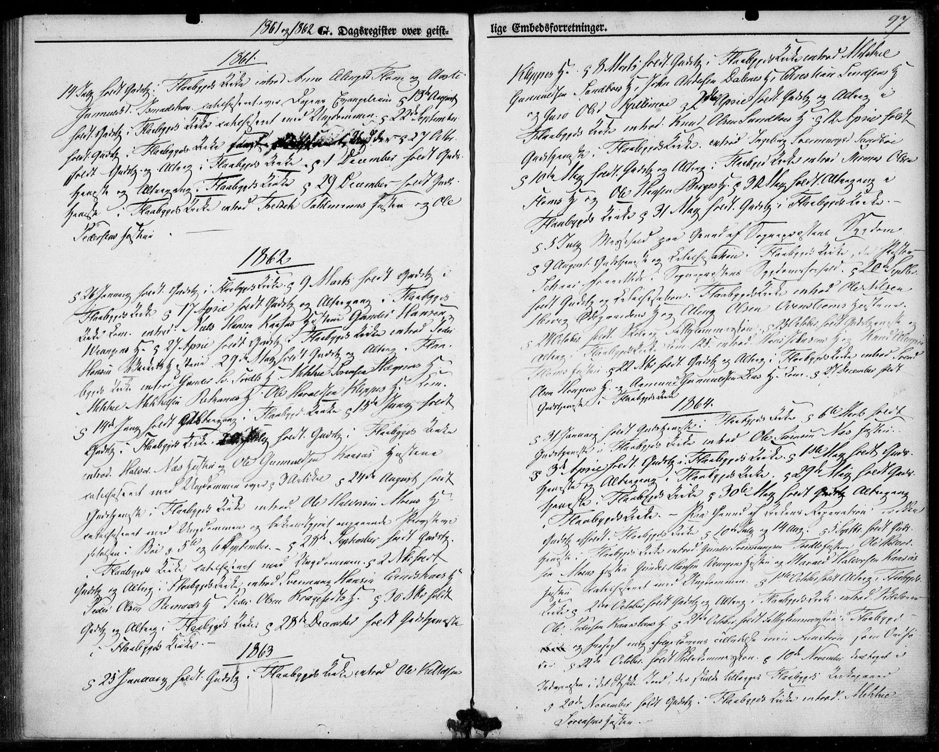 SAKO, Lunde kirkebøker, F/Fb/L0002: Ministerialbok nr. II 2, 1861-1881, s. 97