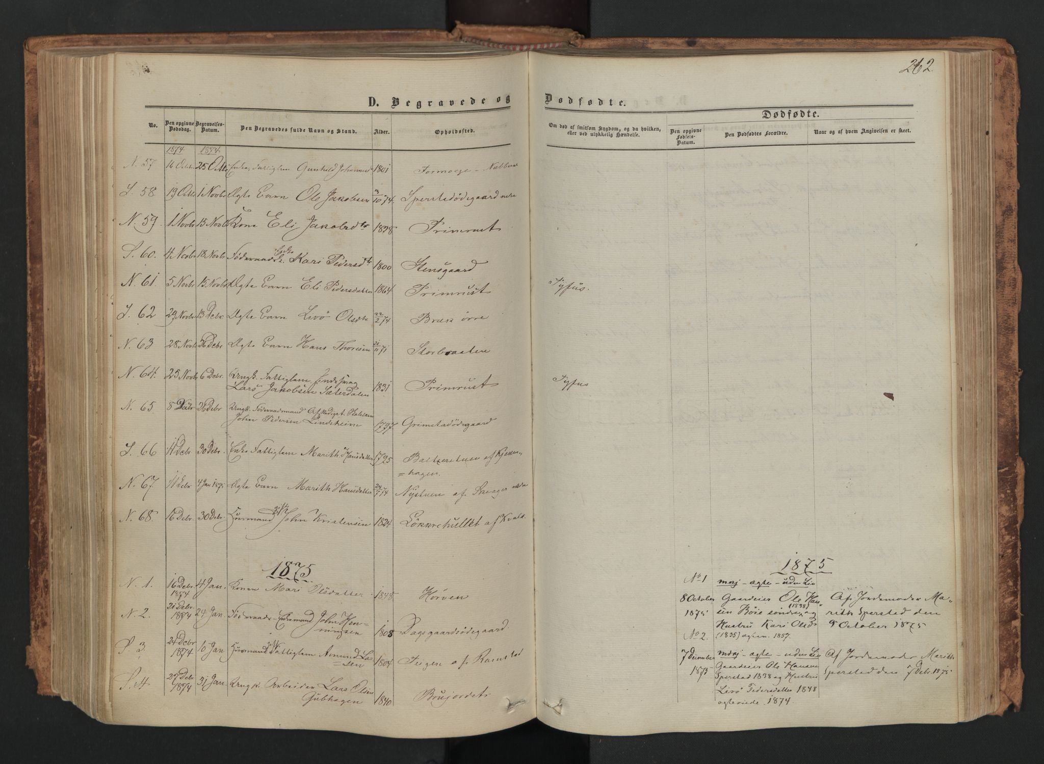 SAH, Skjåk prestekontor, Ministerialbok nr. 1, 1863-1879, s. 262