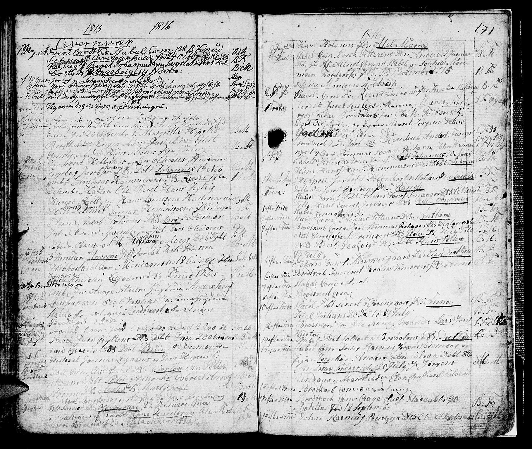 SAT, Ministerialprotokoller, klokkerbøker og fødselsregistre - Sør-Trøndelag, 634/L0526: Ministerialbok nr. 634A02, 1775-1818, s. 171