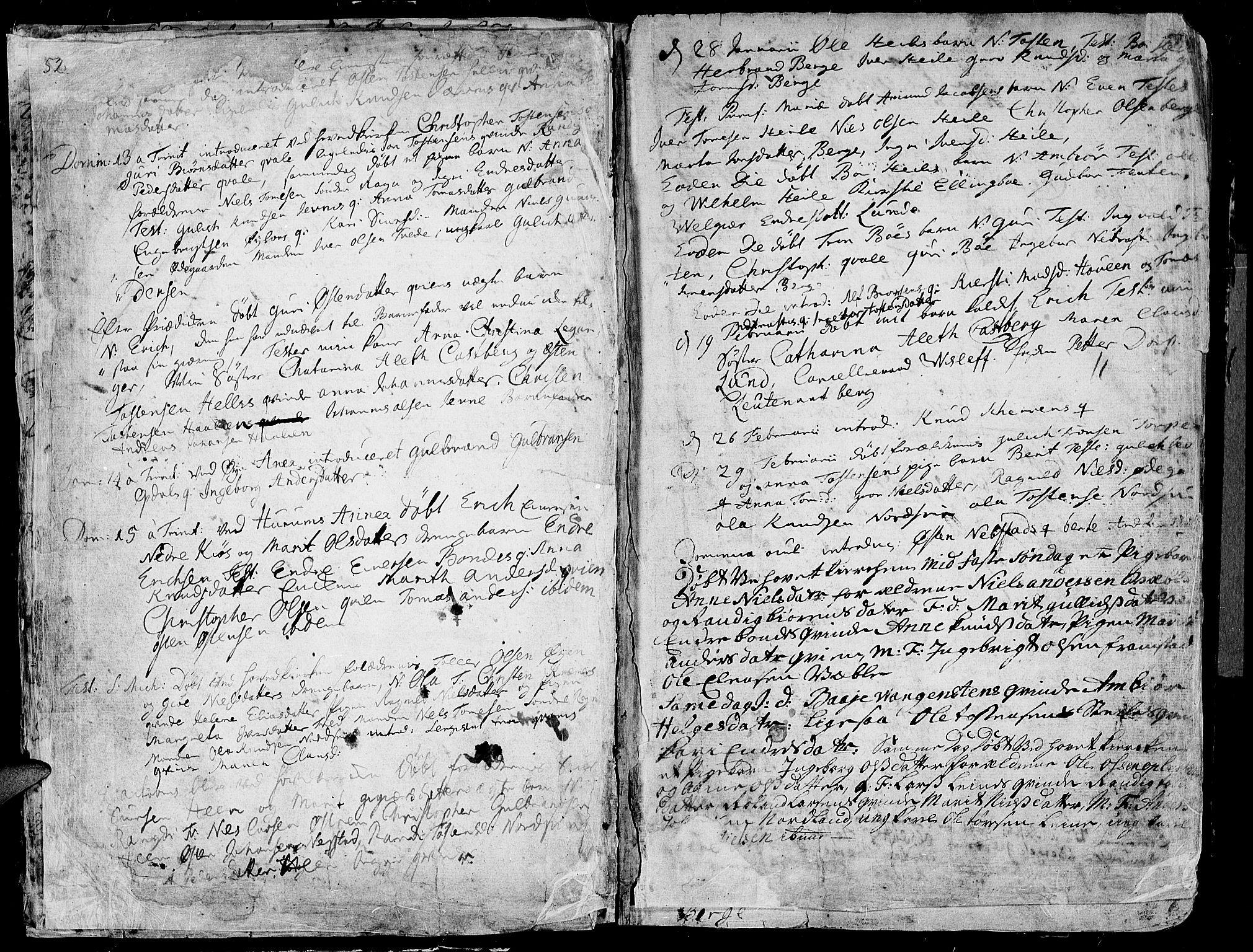 SAH, Vang prestekontor, Valdres, Ministerialbok nr. 1, 1730-1796, s. 52