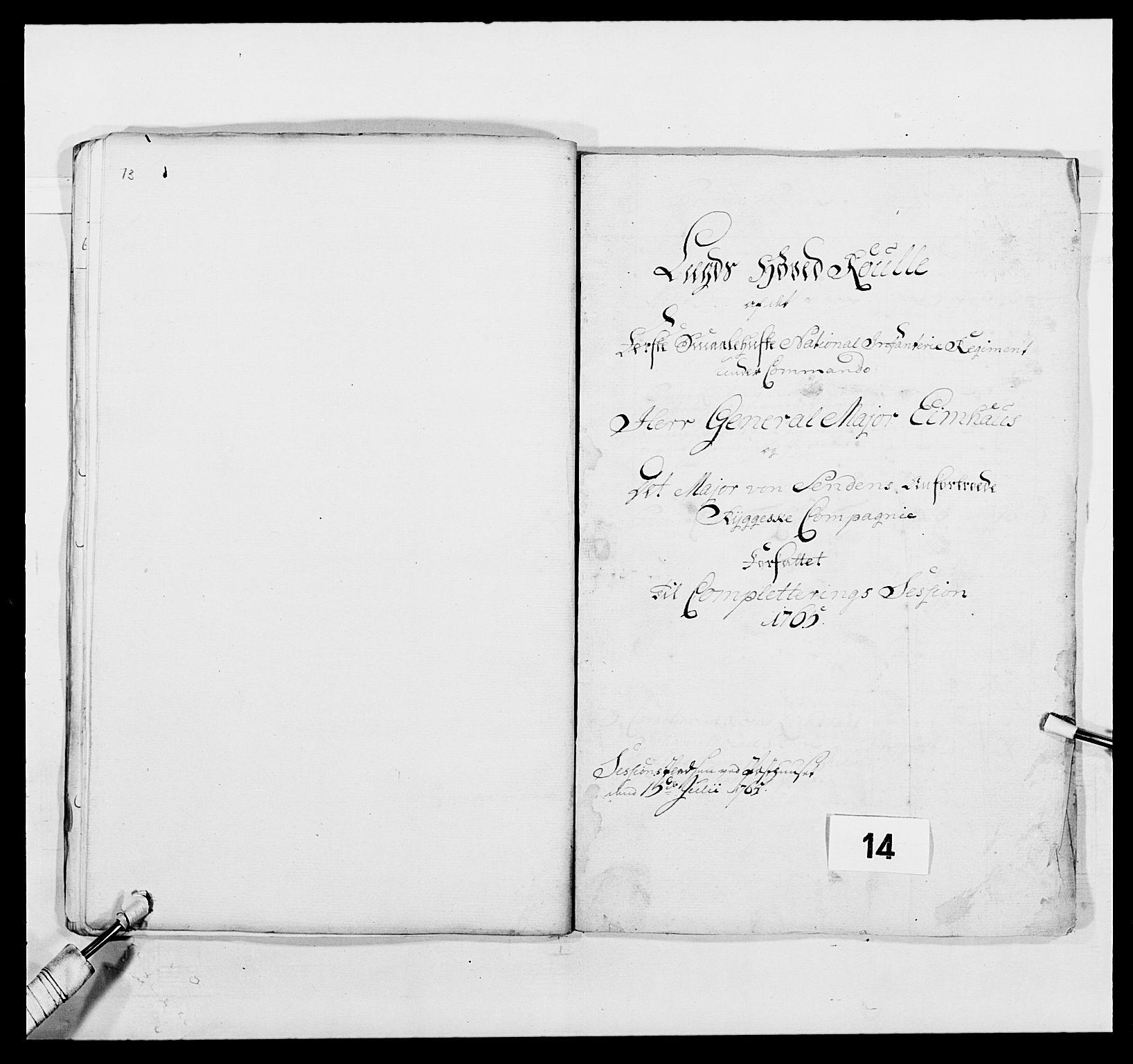 RA, Kommanderende general (KG I) med Det norske krigsdirektorium, E/Ea/L0496: 1. Smålenske regiment, 1765-1767, s. 128