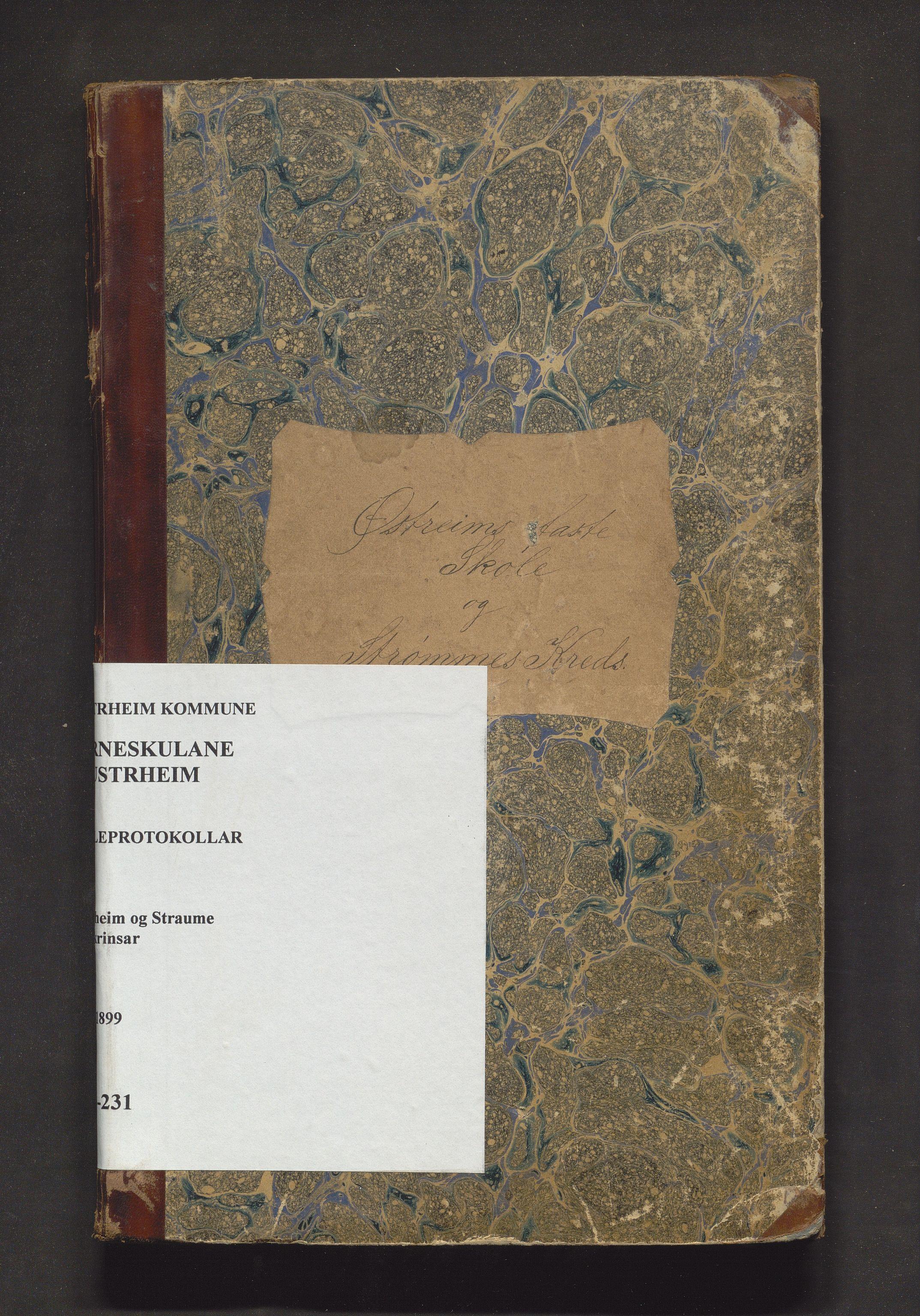 IKAH, Austrheim kommune. Barneskulane, F/Fa/L0004: Skuleprotokoll for Austrheim og Straume, 1888-1899