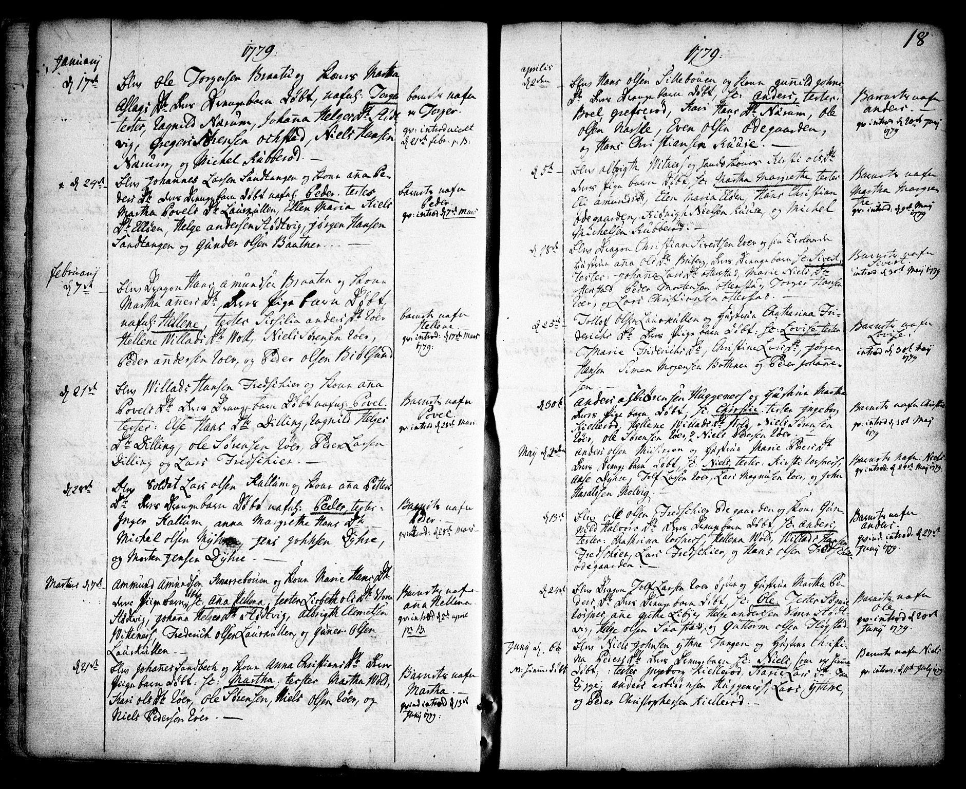 SAO, Rygge prestekontor Kirkebøker, F/Fa/L0002: Ministerialbok nr. 2, 1771-1814, s. 18